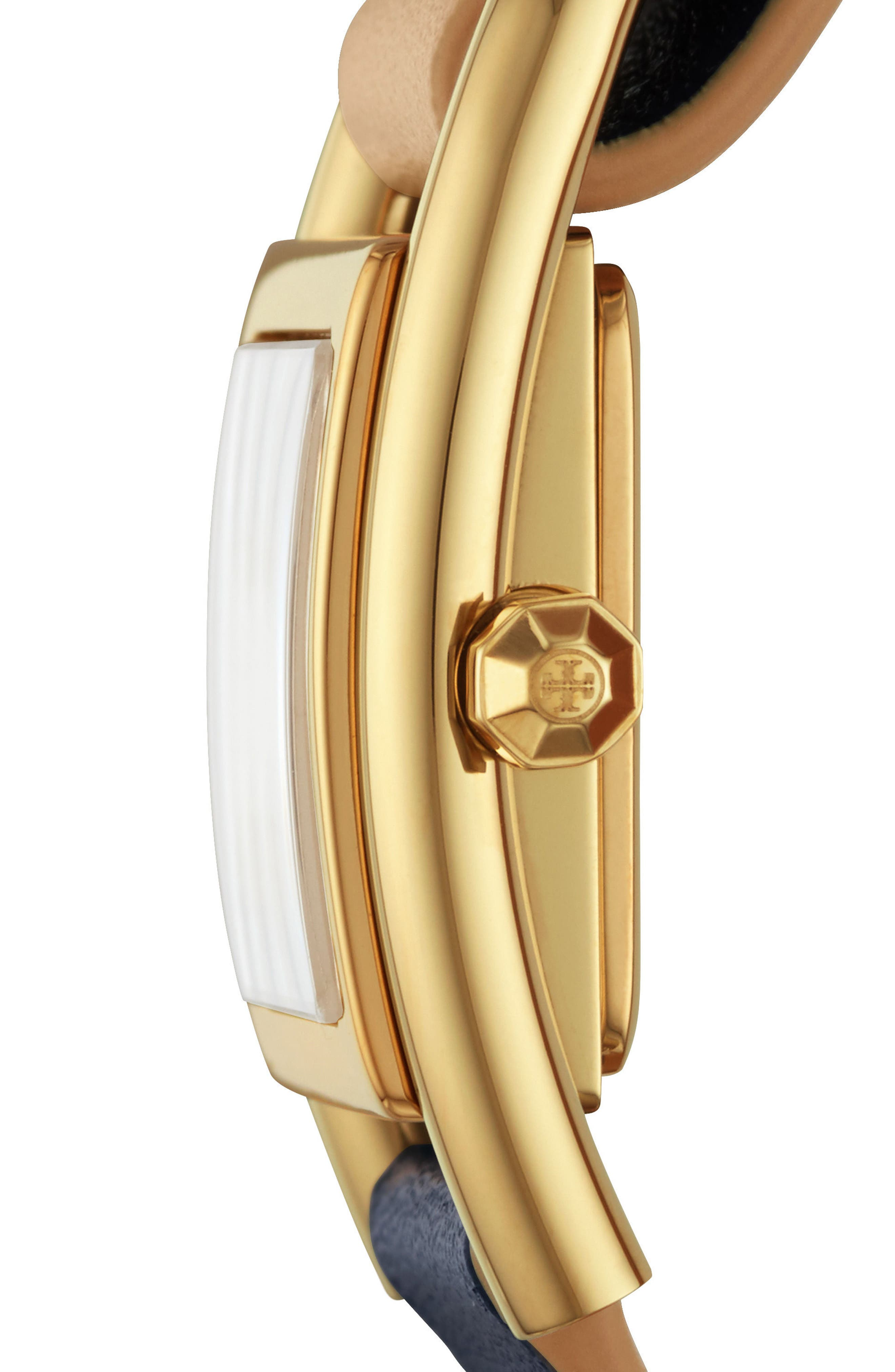TORY BURCH,                             Thayer Leather Strap Watch, 25mm x 39mm,                             Alternate thumbnail 2, color,                             253