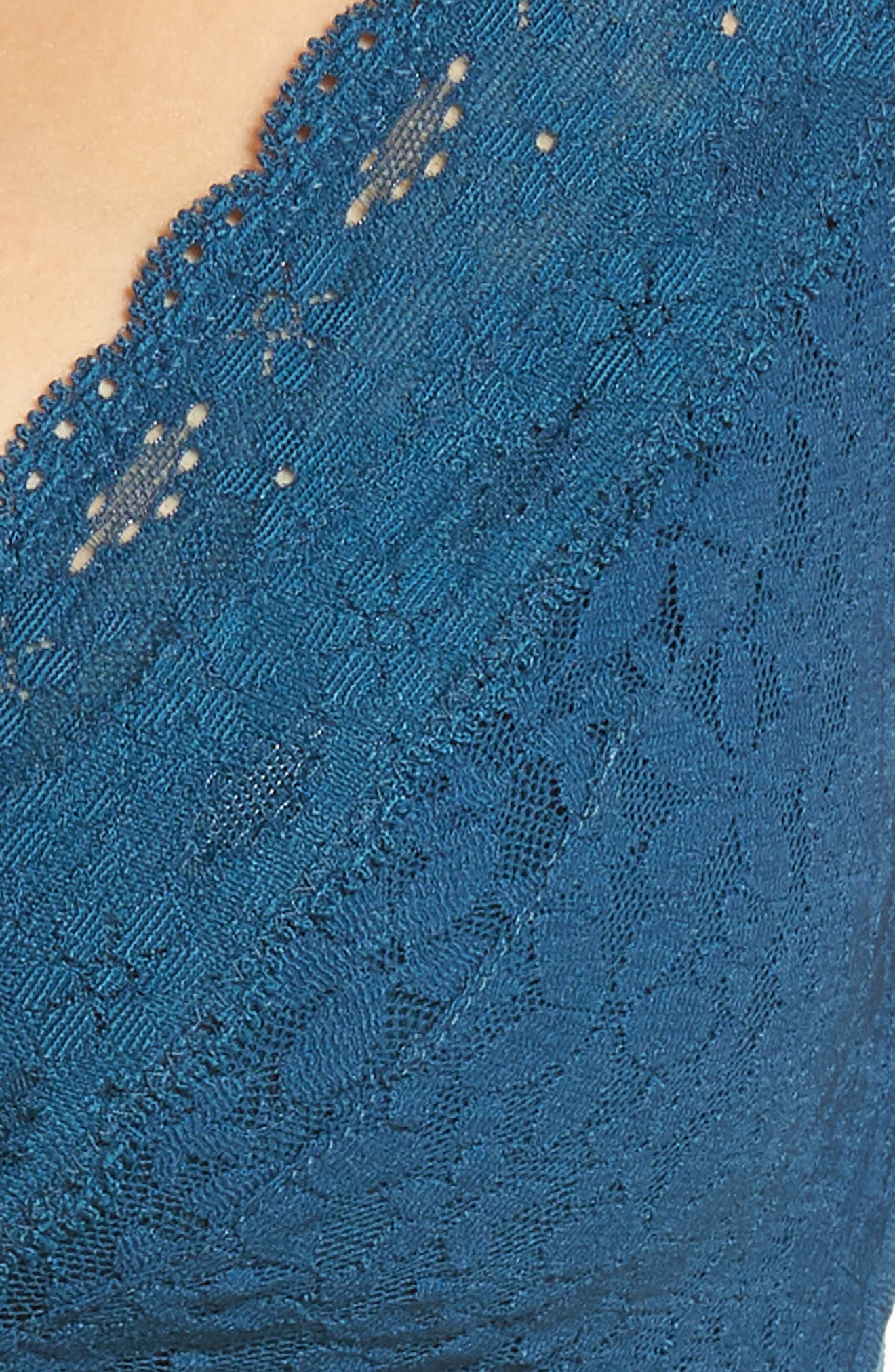 Halo Lace Bralette,                             Alternate thumbnail 8, color,                             MAJOLICA BLUE
