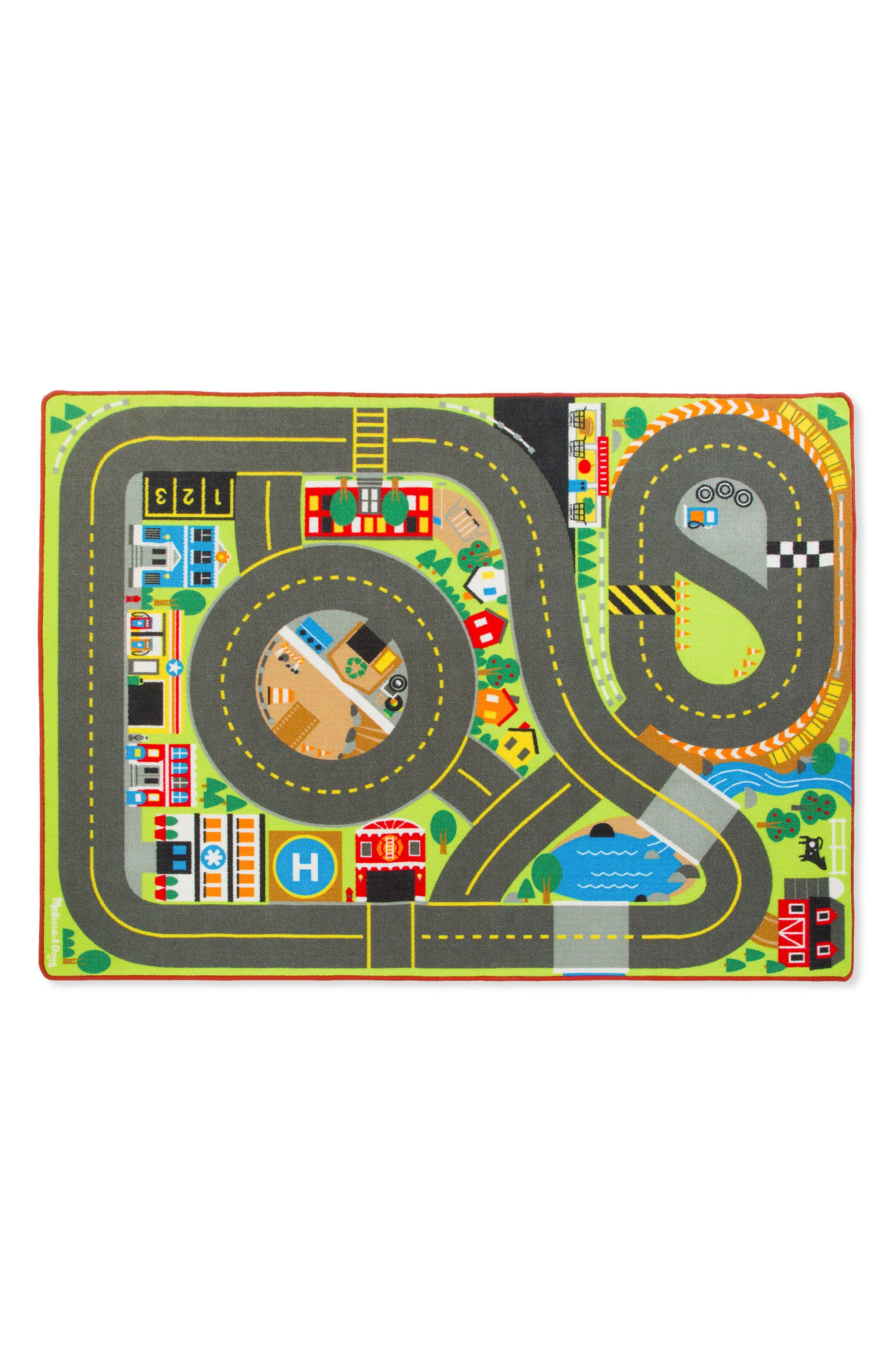 Jumbo Roadway Activity Rug,                             Main thumbnail 1, color,                             GREY