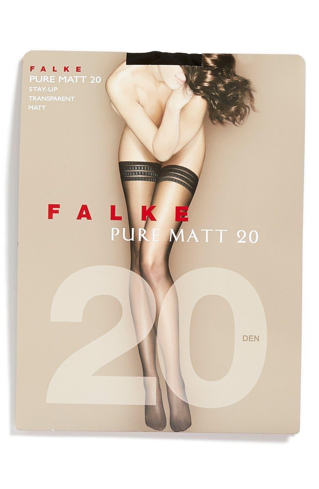 'Pure Matt 20' Stay-Up Stockings,                             Alternate thumbnail 11, color,