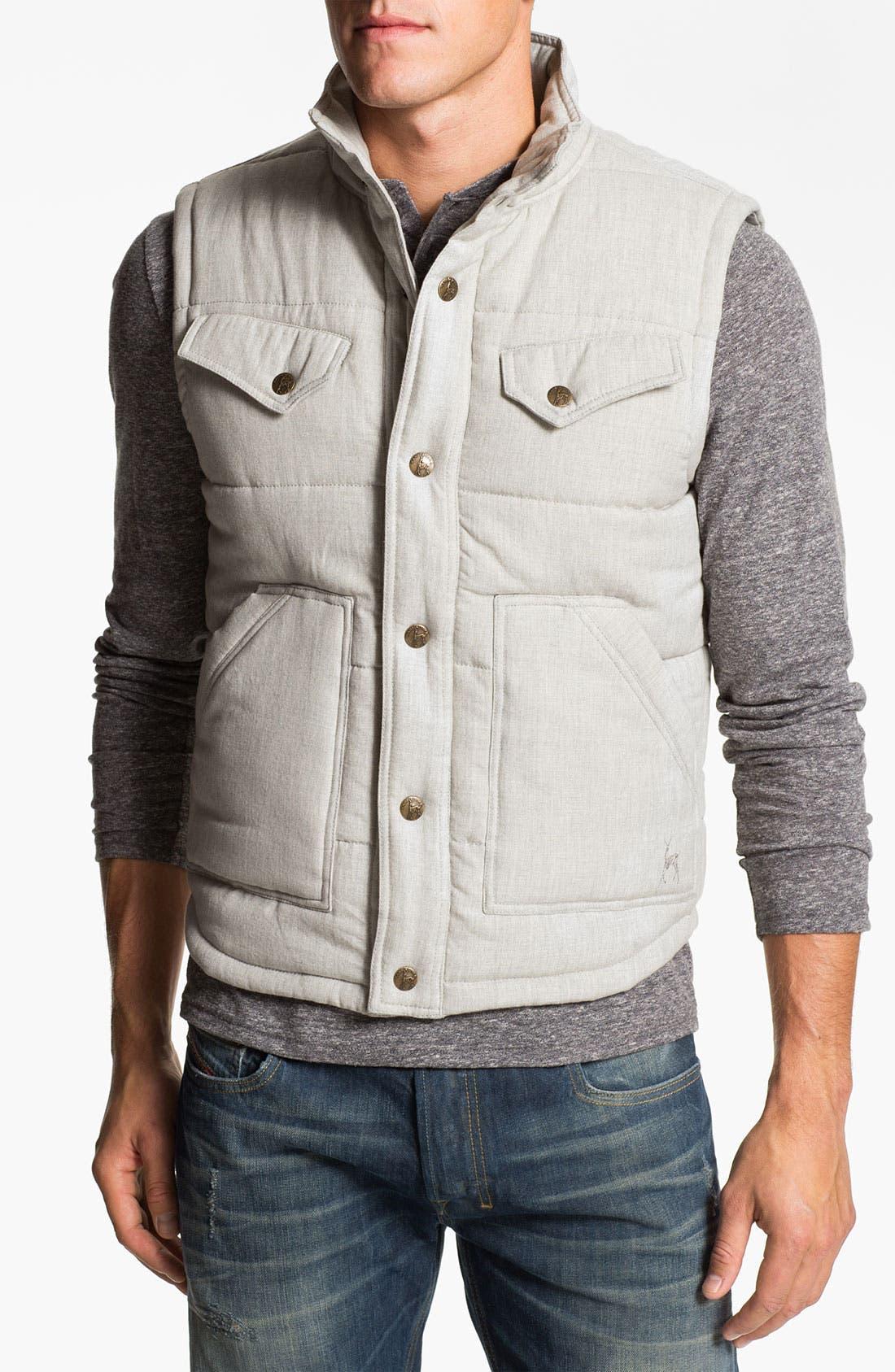Quilted Cotton Vest,                             Main thumbnail 2, color,