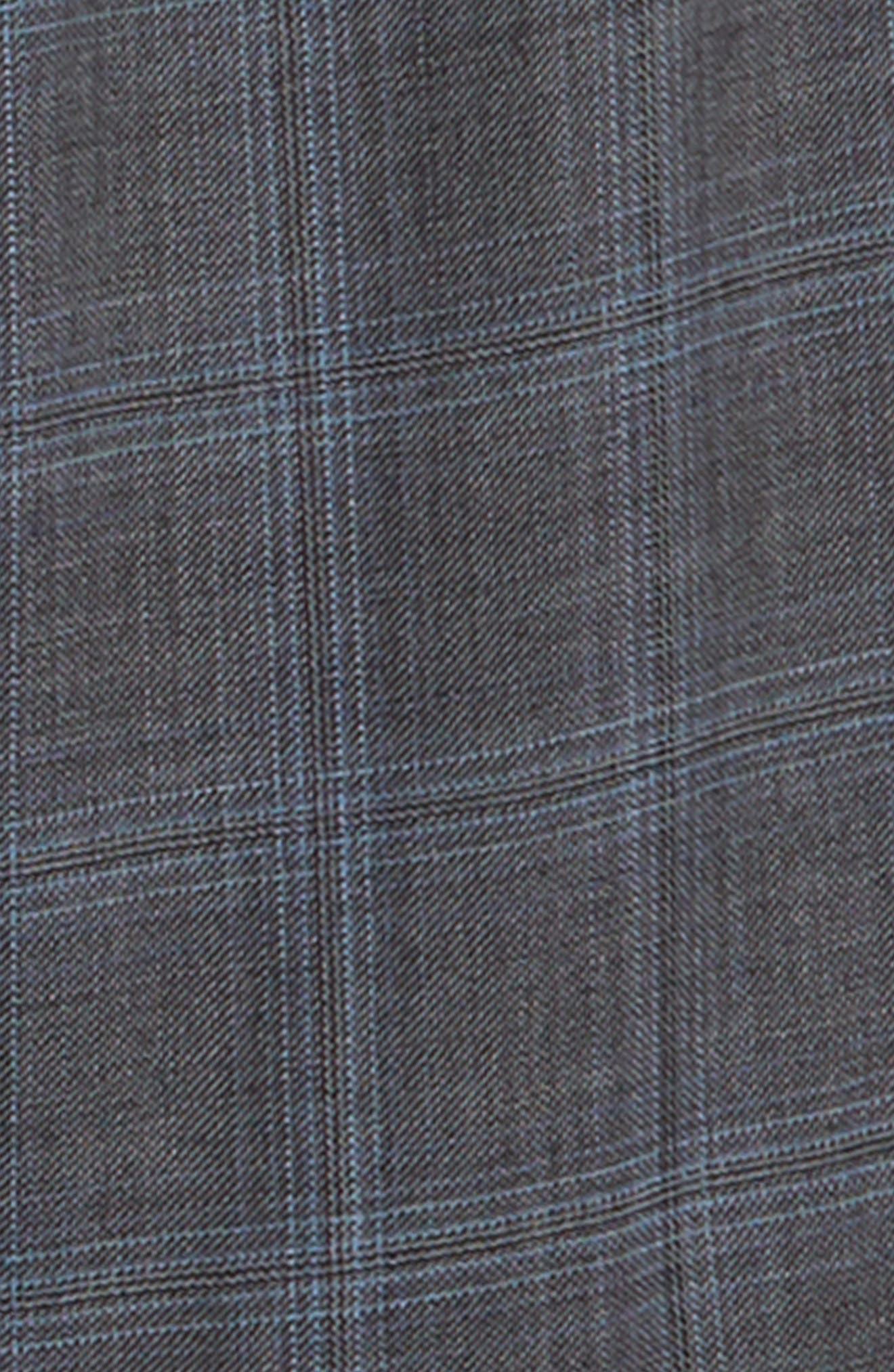 Windowpane Check Stretch Wool Suit,                             Alternate thumbnail 2, color,                             MEDIUM GREY