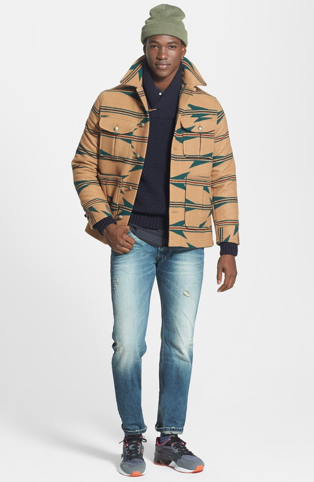 Shawl Collar Sweater,                             Alternate thumbnail 6, color,                             020