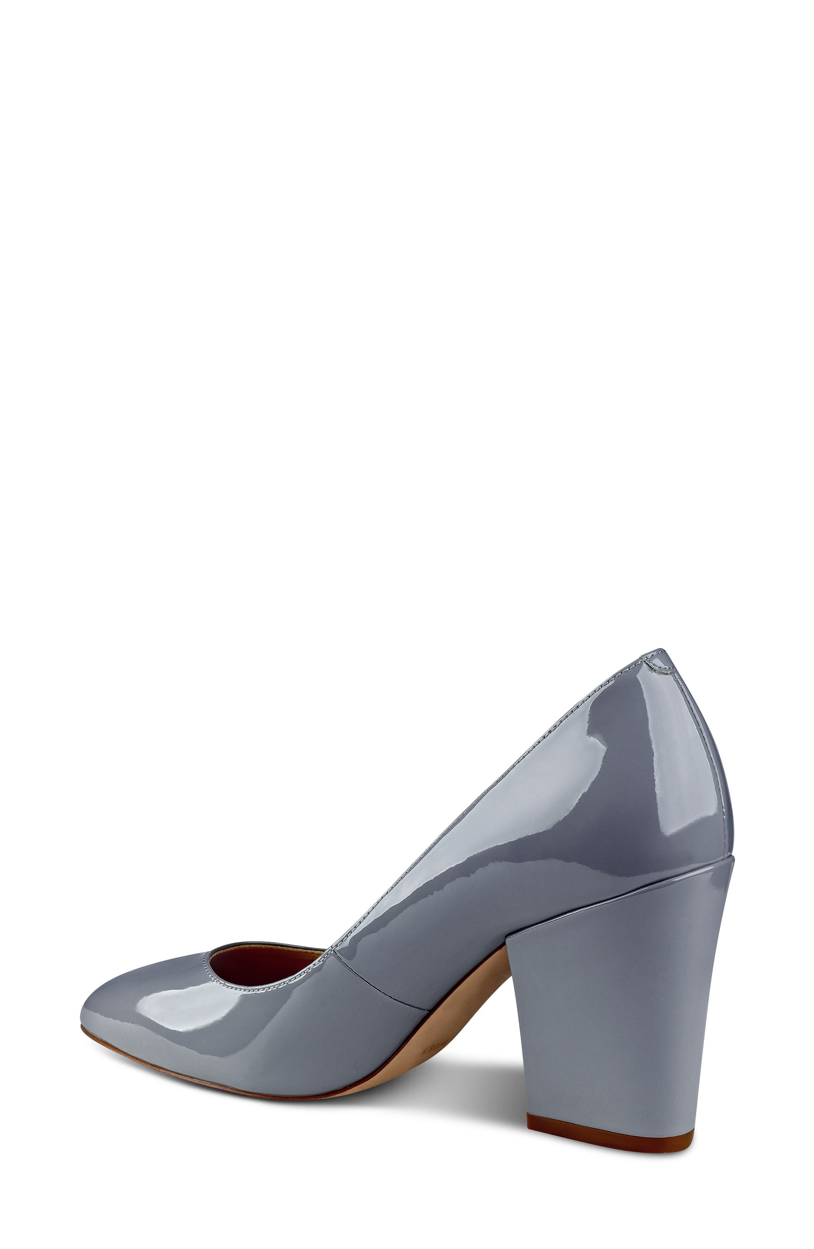 Scheila Pointy Toe Pump,                             Alternate thumbnail 2, color,                             GREY FAUX LEATHER