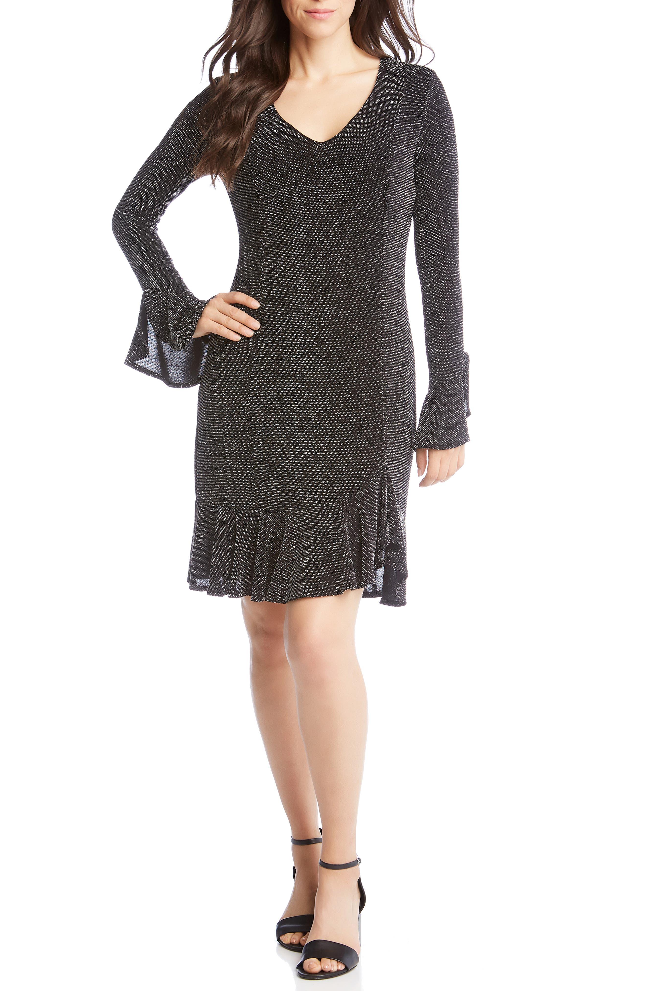 Karen Kane Sienna Metallic Shift Dress, Metallic
