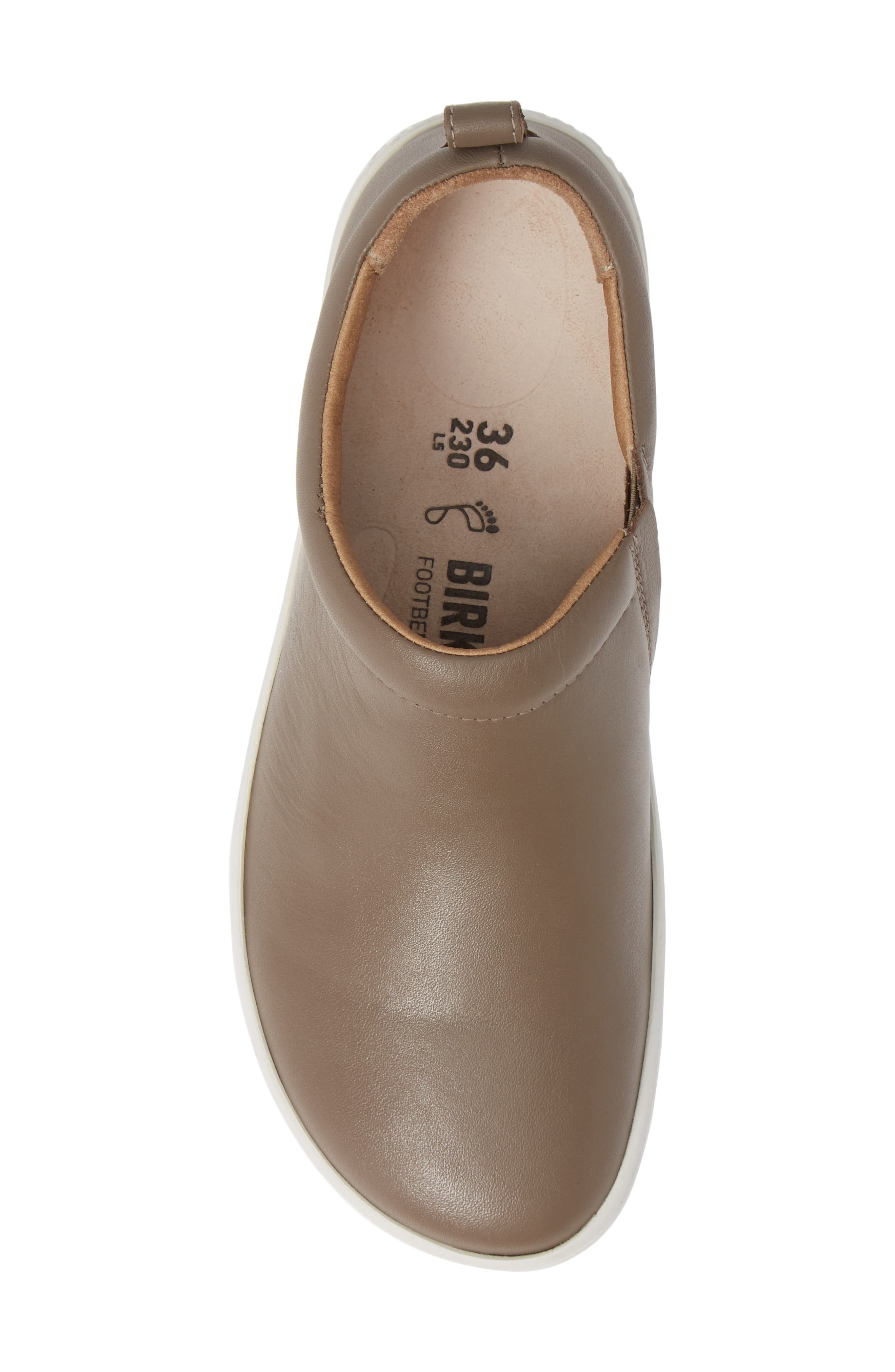 Rena Slip-On Sneaker,                             Alternate thumbnail 5, color,                             TAUPE LEATHER