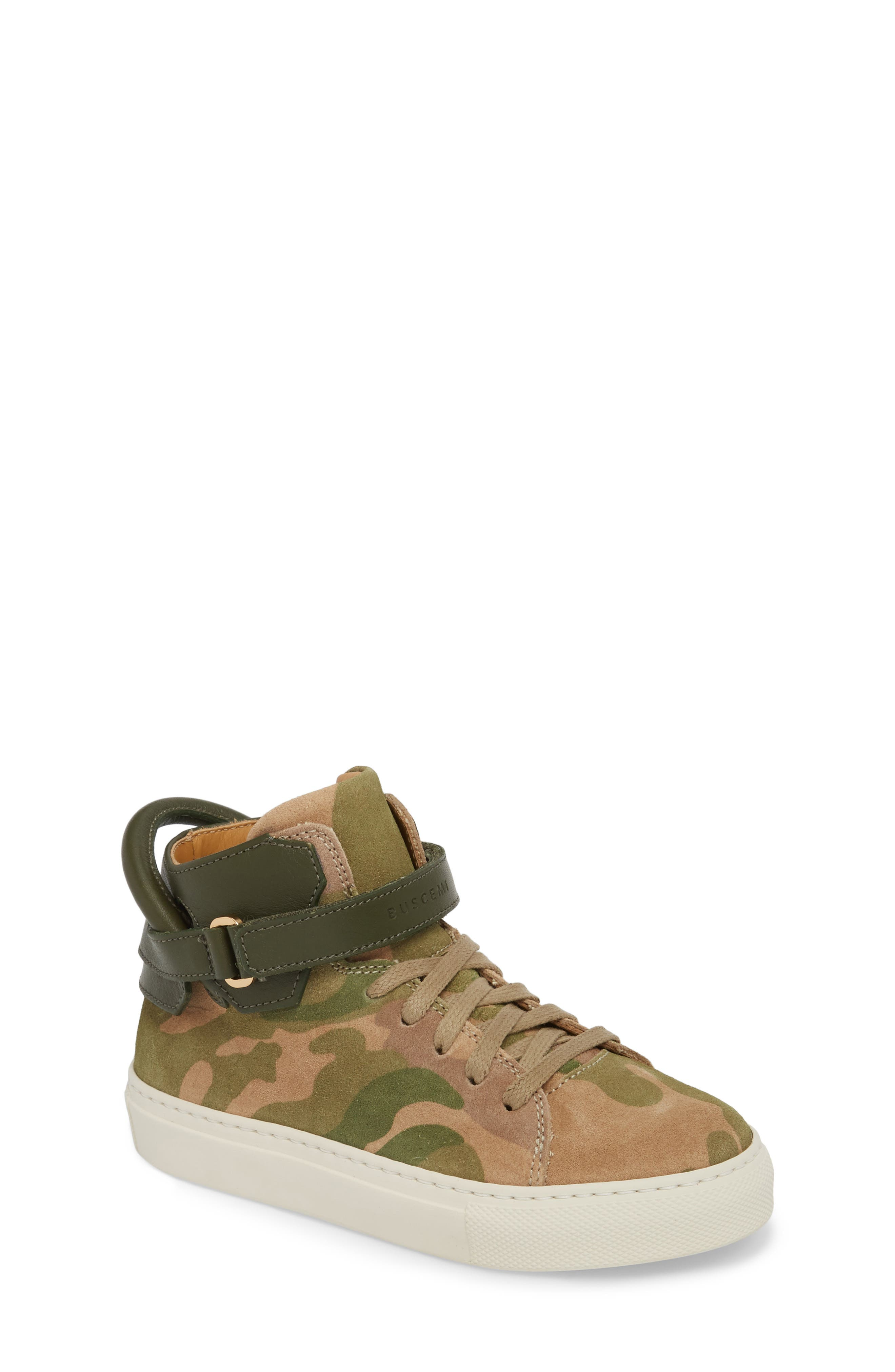 Suede High Top Sneaker,                             Main thumbnail 1, color,                             CAMO SUEDE