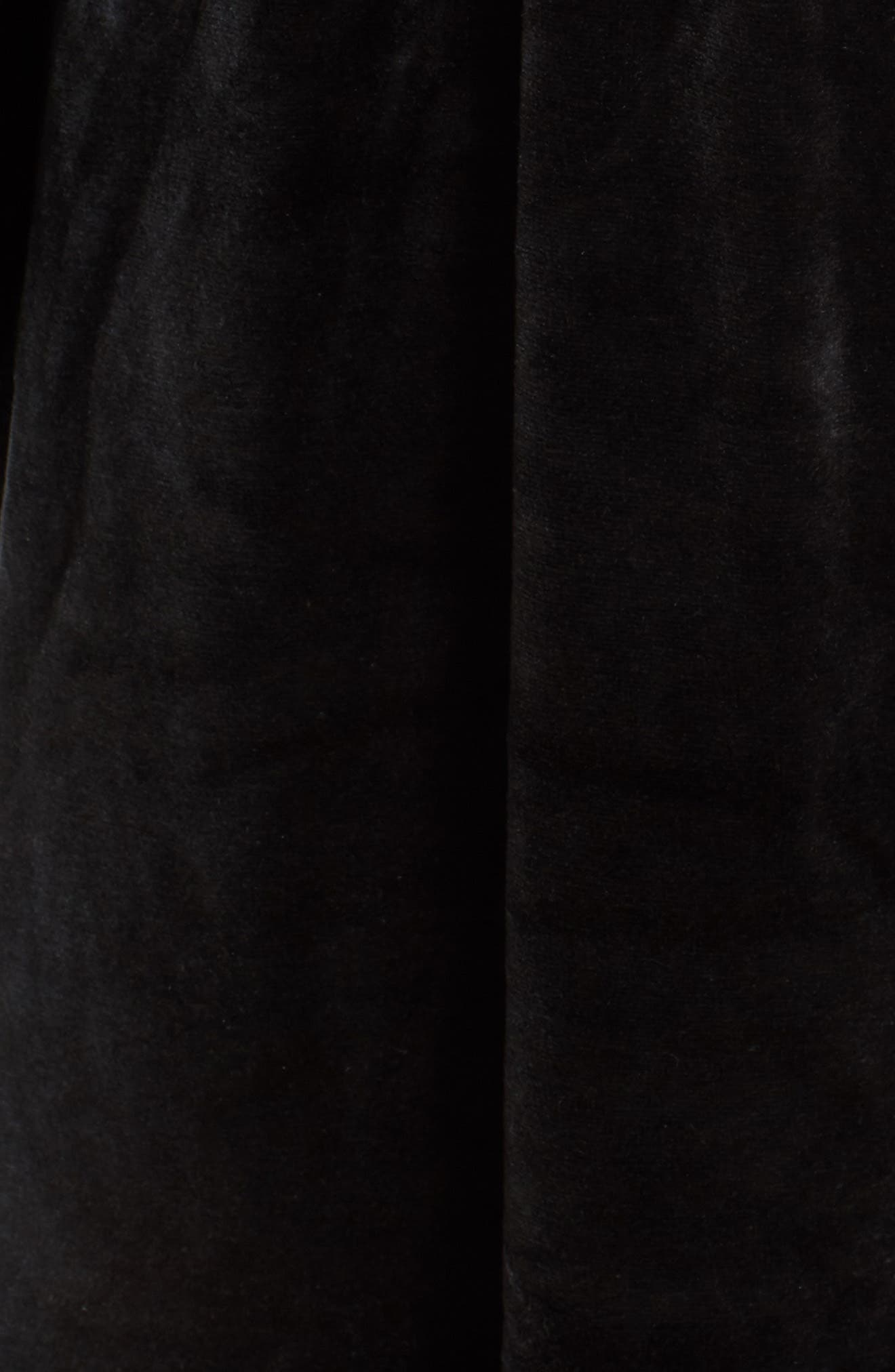 Track Off the Shoulder Velour Dress,                             Alternate thumbnail 5, color,                             009