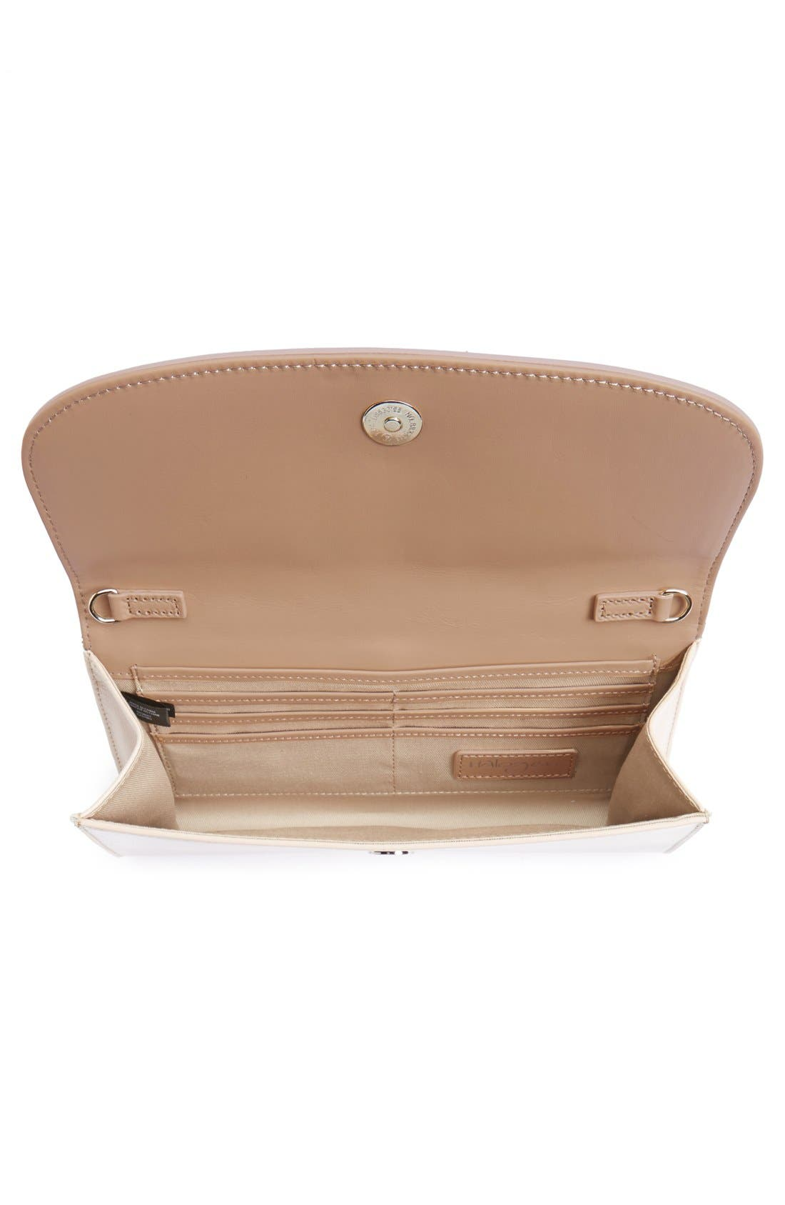 Leather Clutch,                             Alternate thumbnail 42, color,