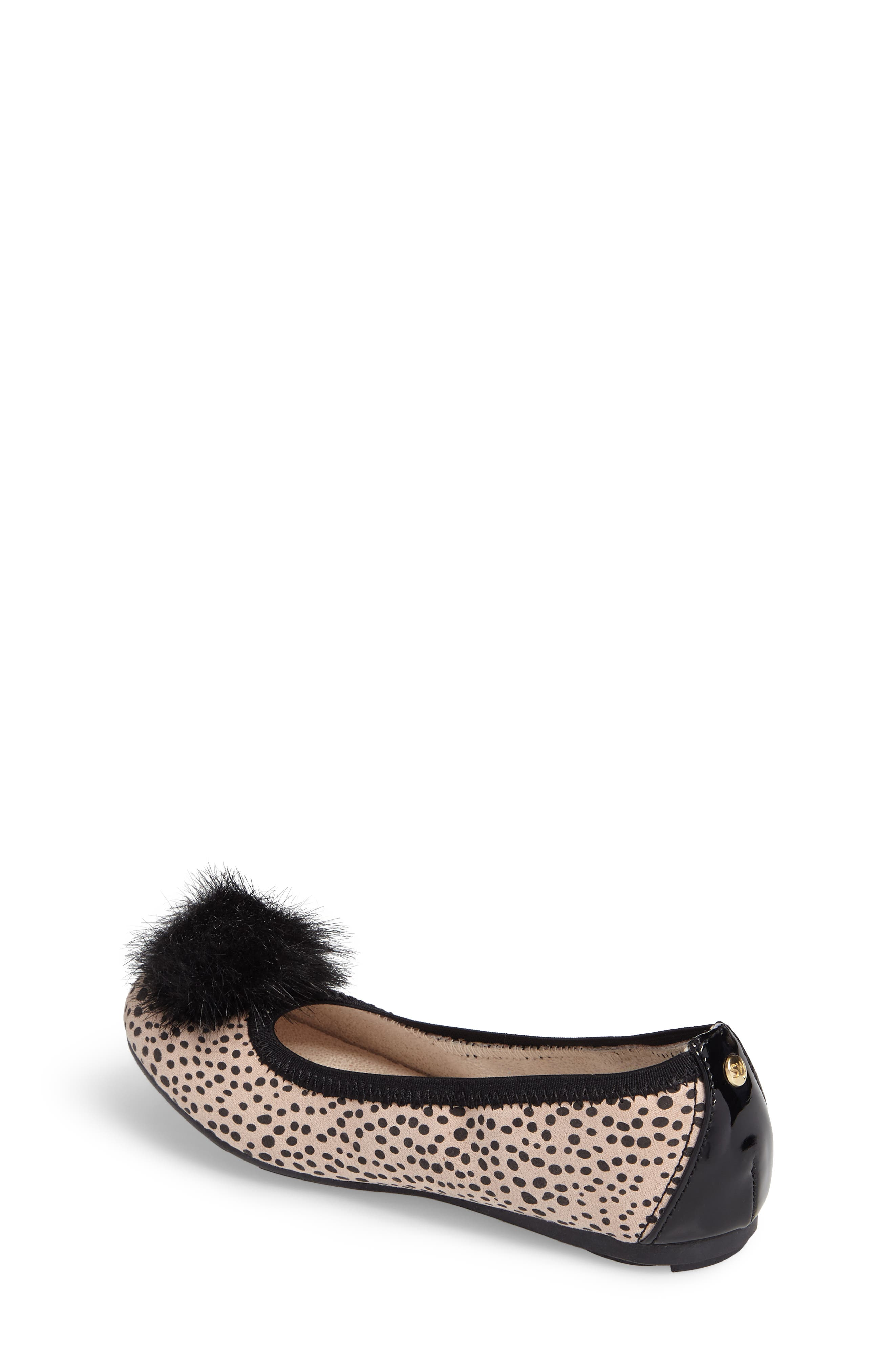 Fannie Cheetah Faux Fur Pom Flat,                             Alternate thumbnail 2, color,                             012