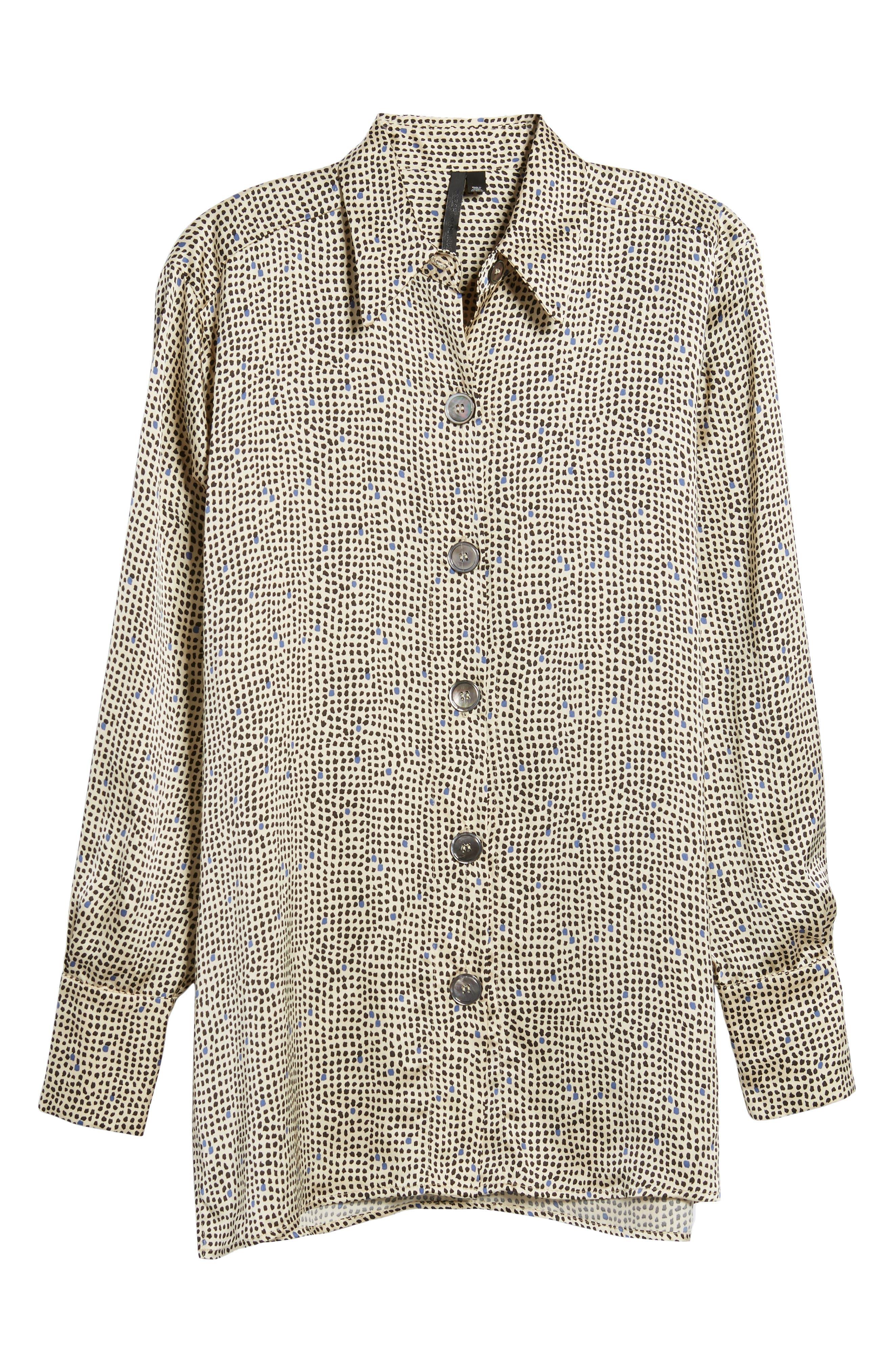 Mini Spot Shirt,                             Alternate thumbnail 6, color,                             251