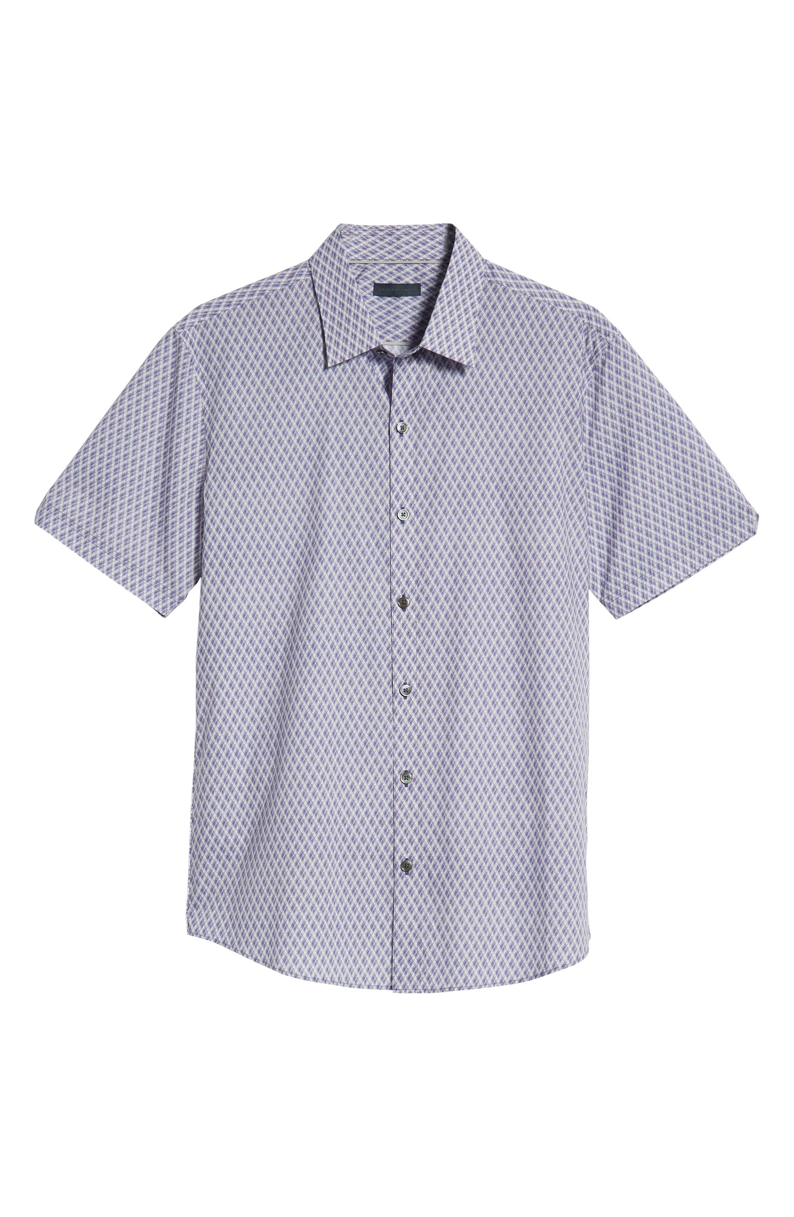 Madorin Regular Fit Sport Shirt,                             Alternate thumbnail 5, color,                             PURPLE