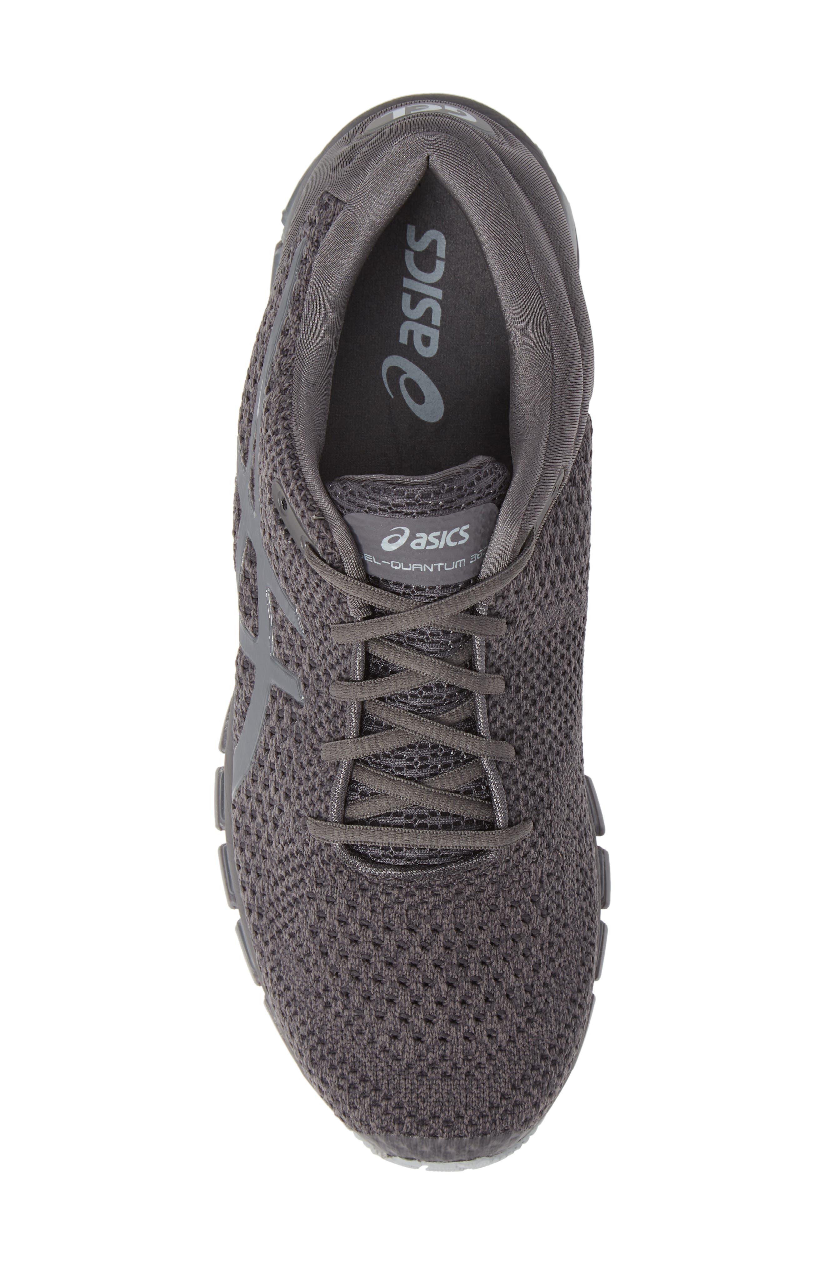 GEL-Quantum 360 Running Shoe,                             Alternate thumbnail 5, color,                             CARBON/ DARK GREY
