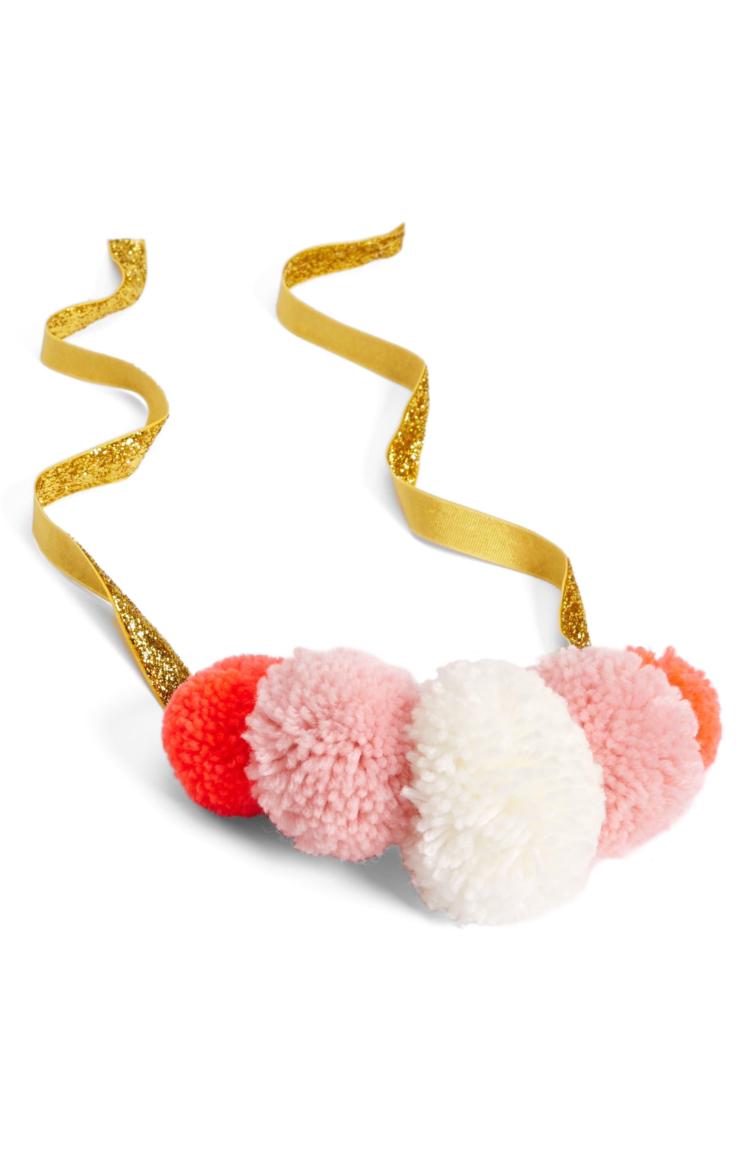 Yarn Pompom Crown,                         Main,                         color, 650
