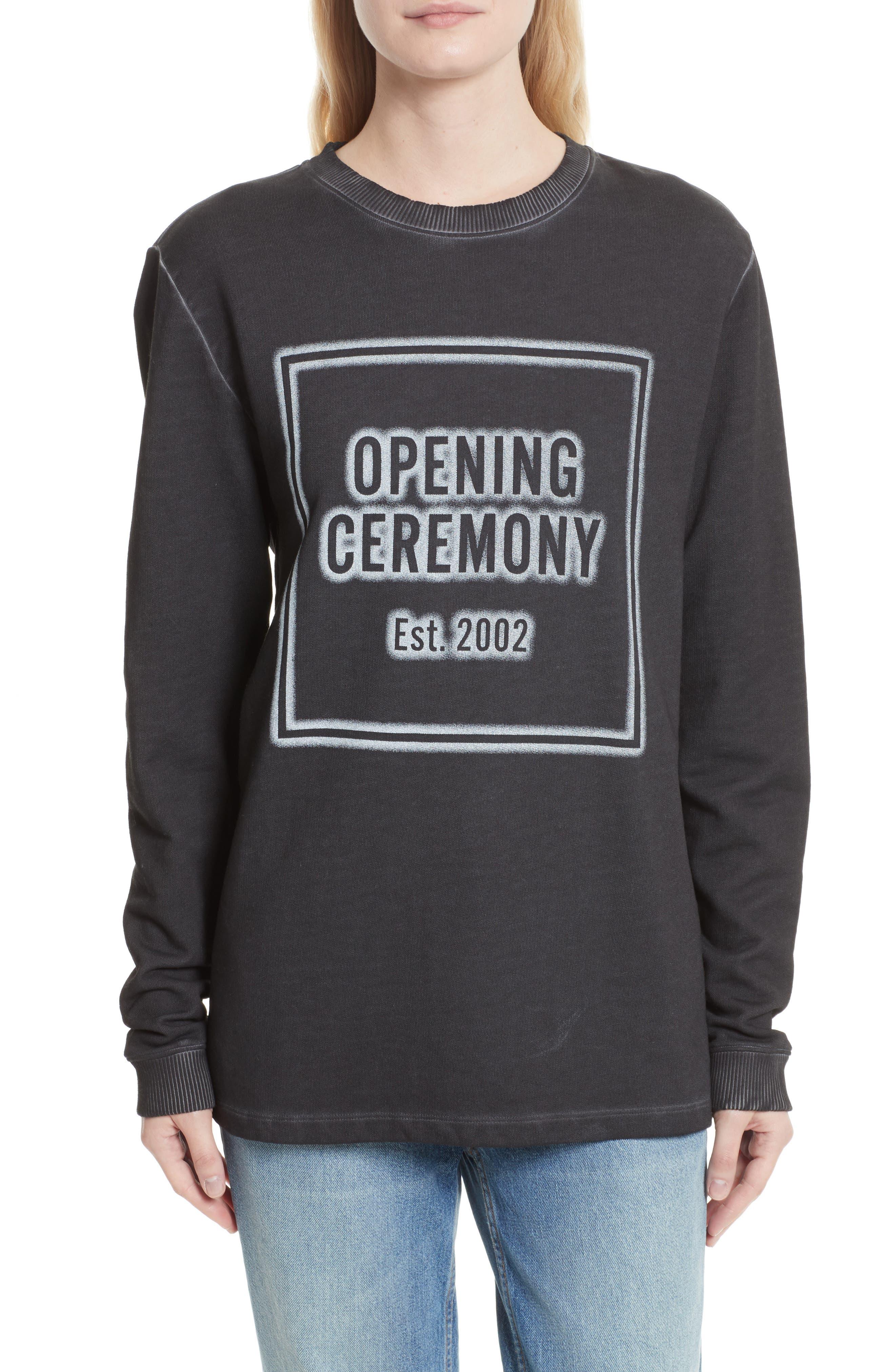 Cozy Stencil Sweatshirt,                             Main thumbnail 1, color,                             001