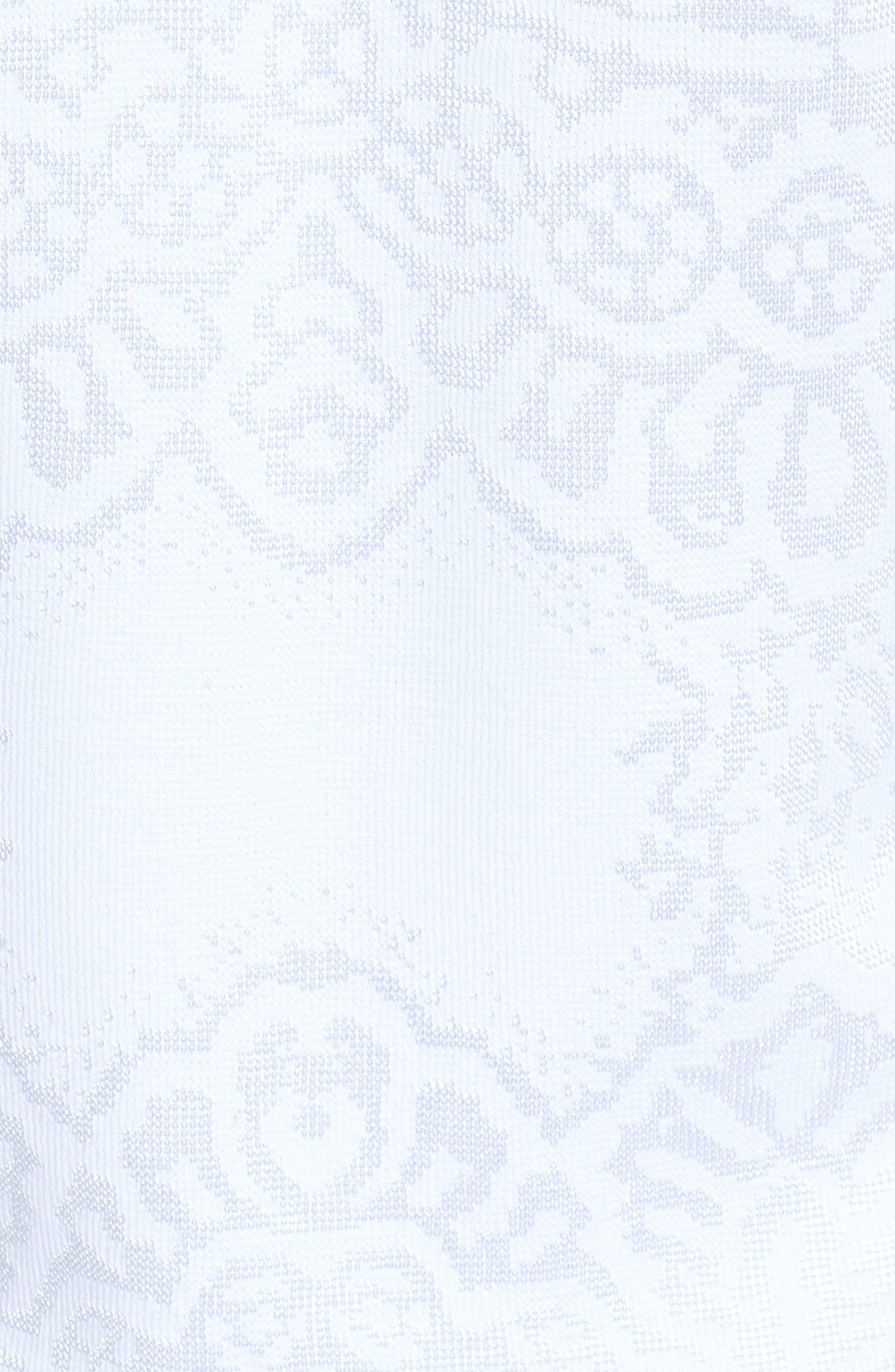 Floral Jacquard Jacket,                             Alternate thumbnail 6, color,                             WHITE