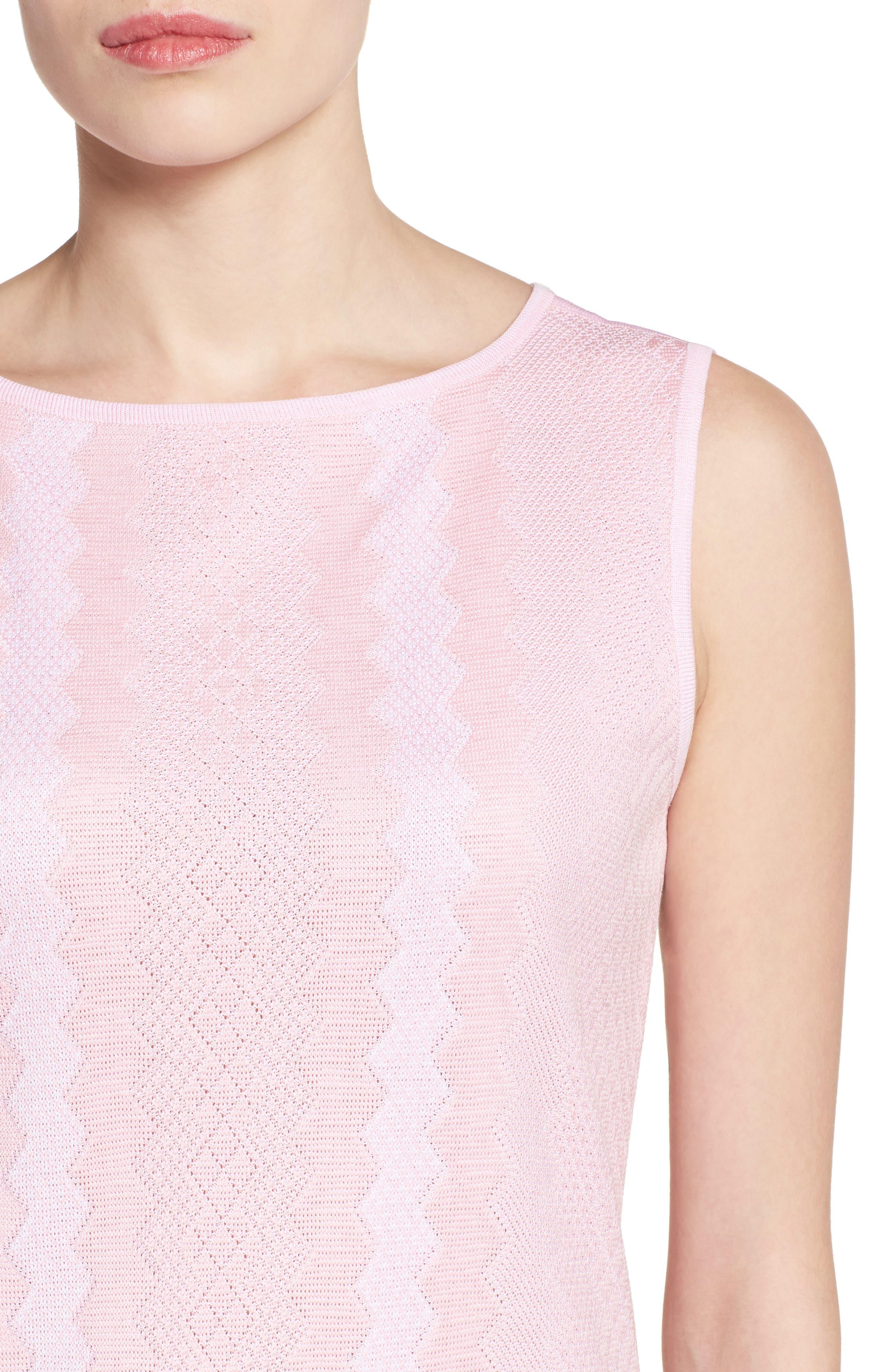 Sleeveless Knit Sheath Dress,                             Alternate thumbnail 4, color,                             688