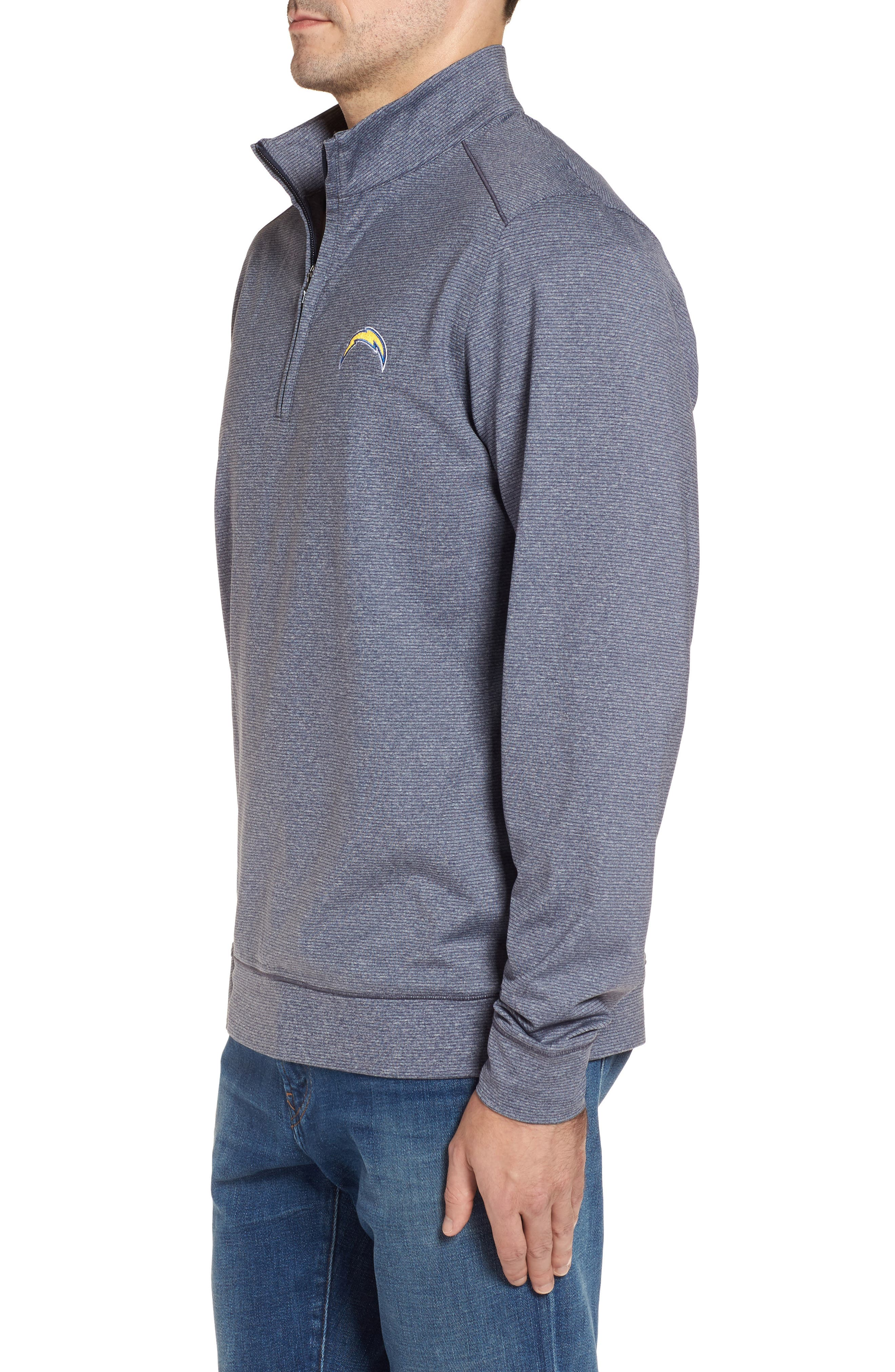 Shoreline - Los Angeles Chargers Half Zip Pullover,                             Alternate thumbnail 3, color,                             976