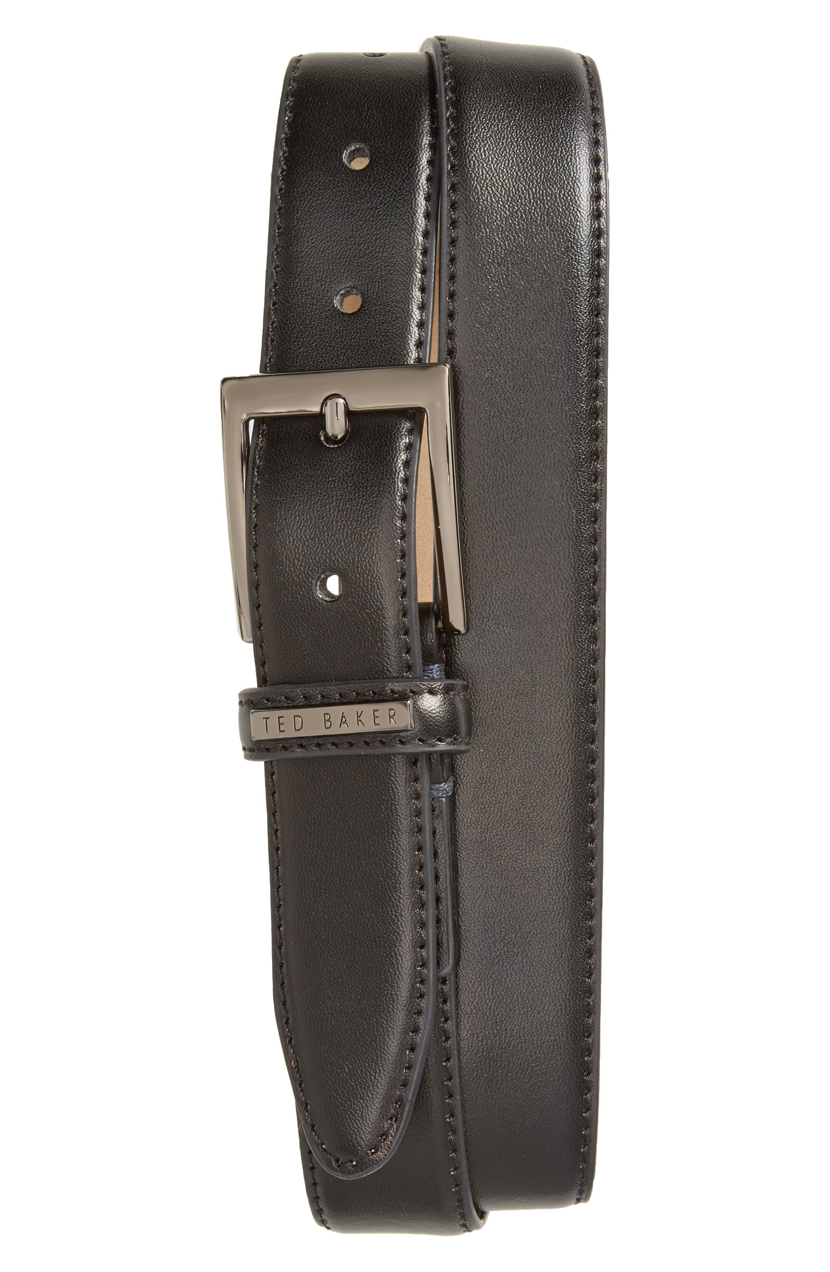 Lizwiz Leather Belt,                             Main thumbnail 1, color,                             BLACK
