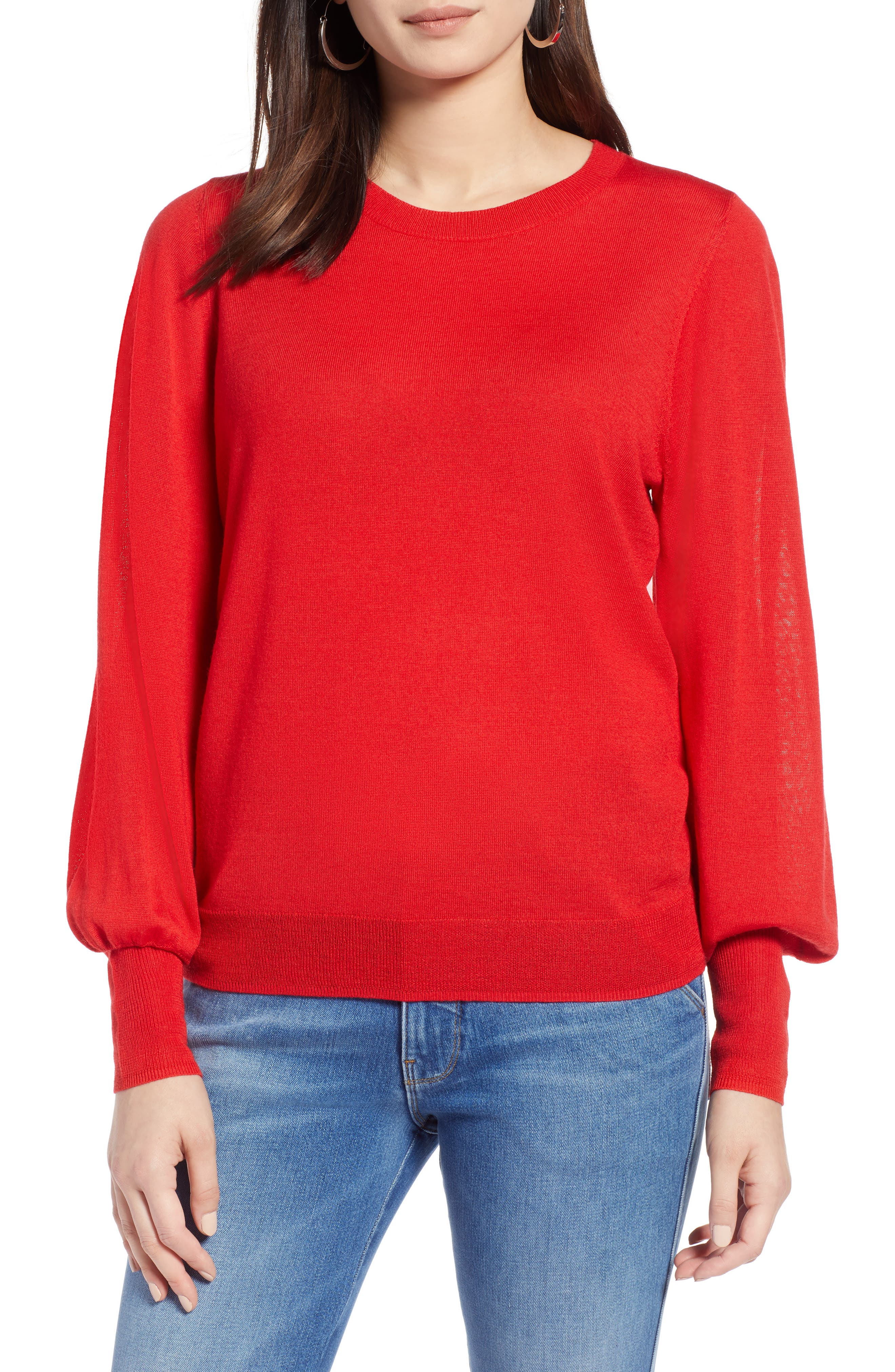 Puff Sleeve Sweater,                             Main thumbnail 9, color,