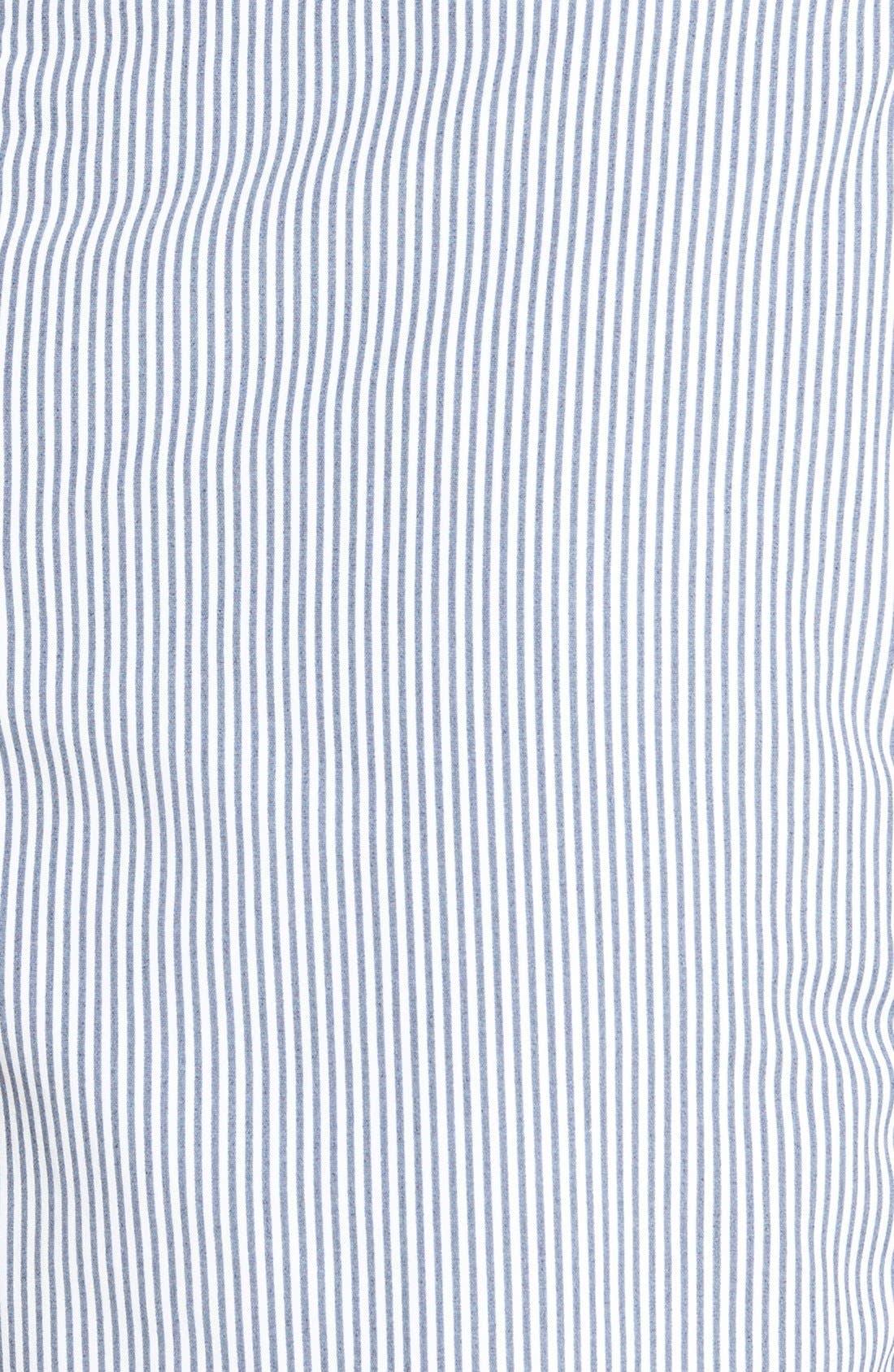 'Aruba - Stripe' Tailored Fit 6.5 Inch Board Shorts,                             Alternate thumbnail 3, color,                             STRIPED ANCHOR GRAY