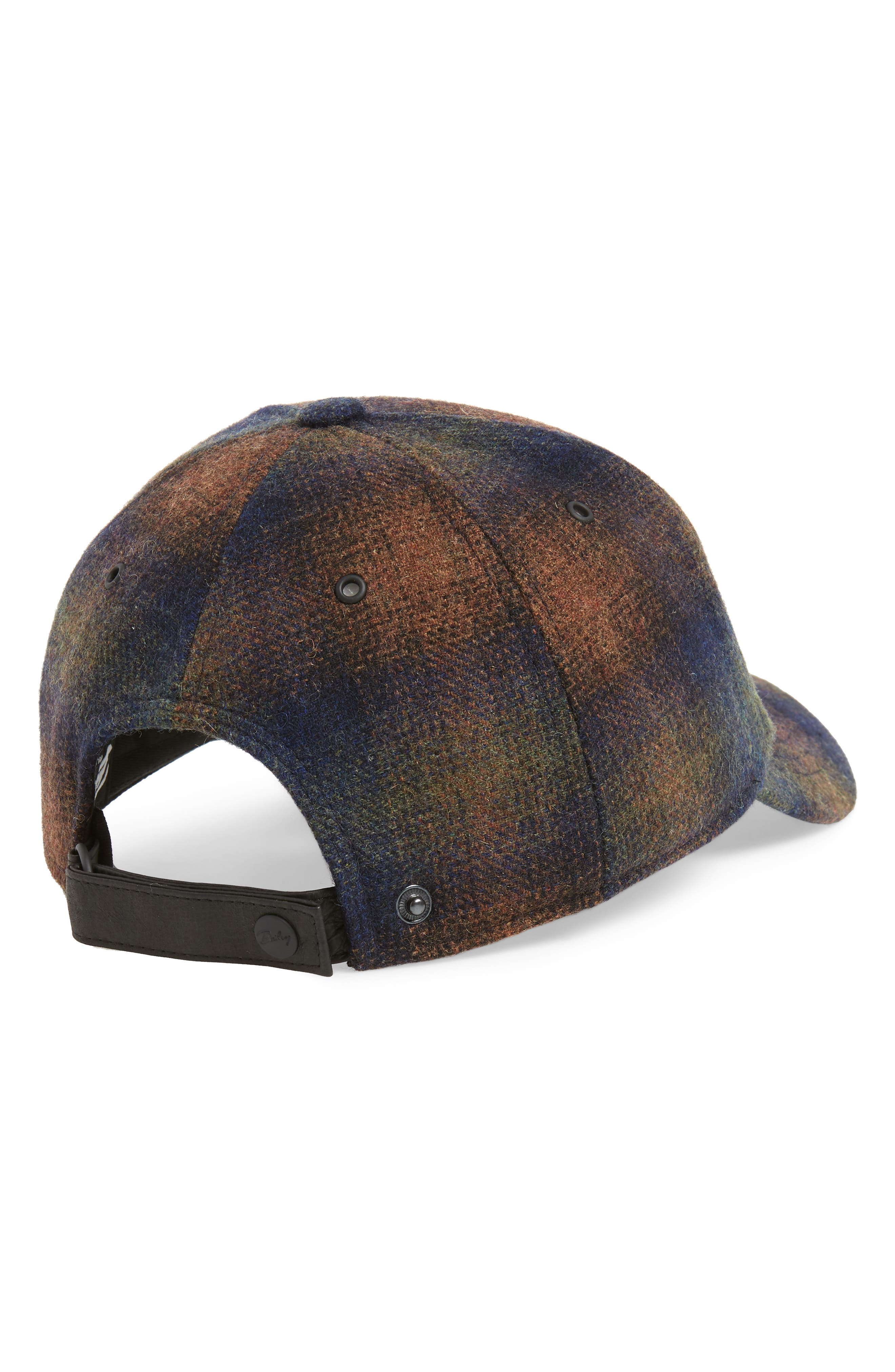 Bernick Plaid Wool Blend Baseball Cap,                             Alternate thumbnail 2, color,                             OLIVE PLAID