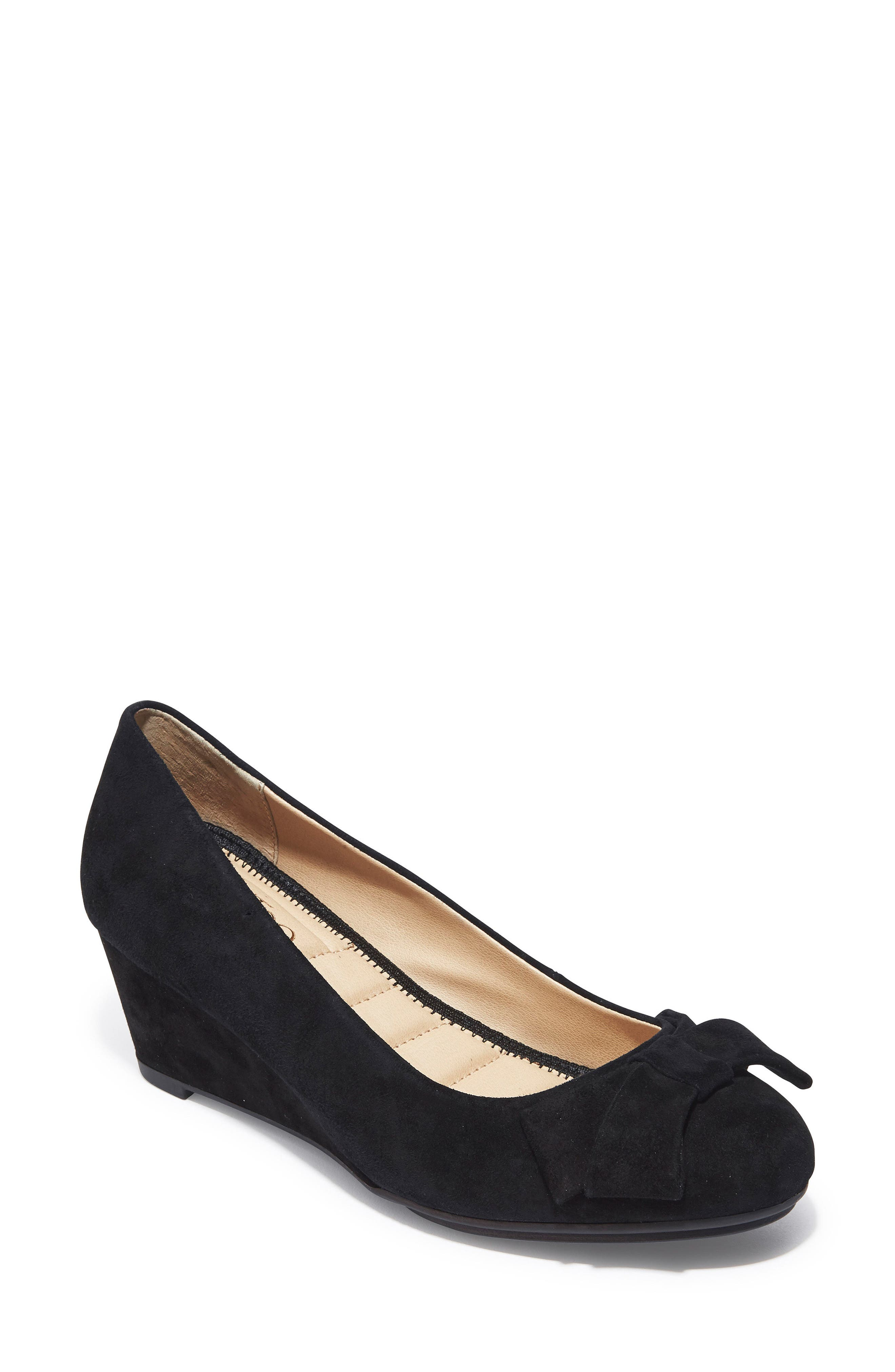Bow Embellished Wedge,                         Main,                         color, 014