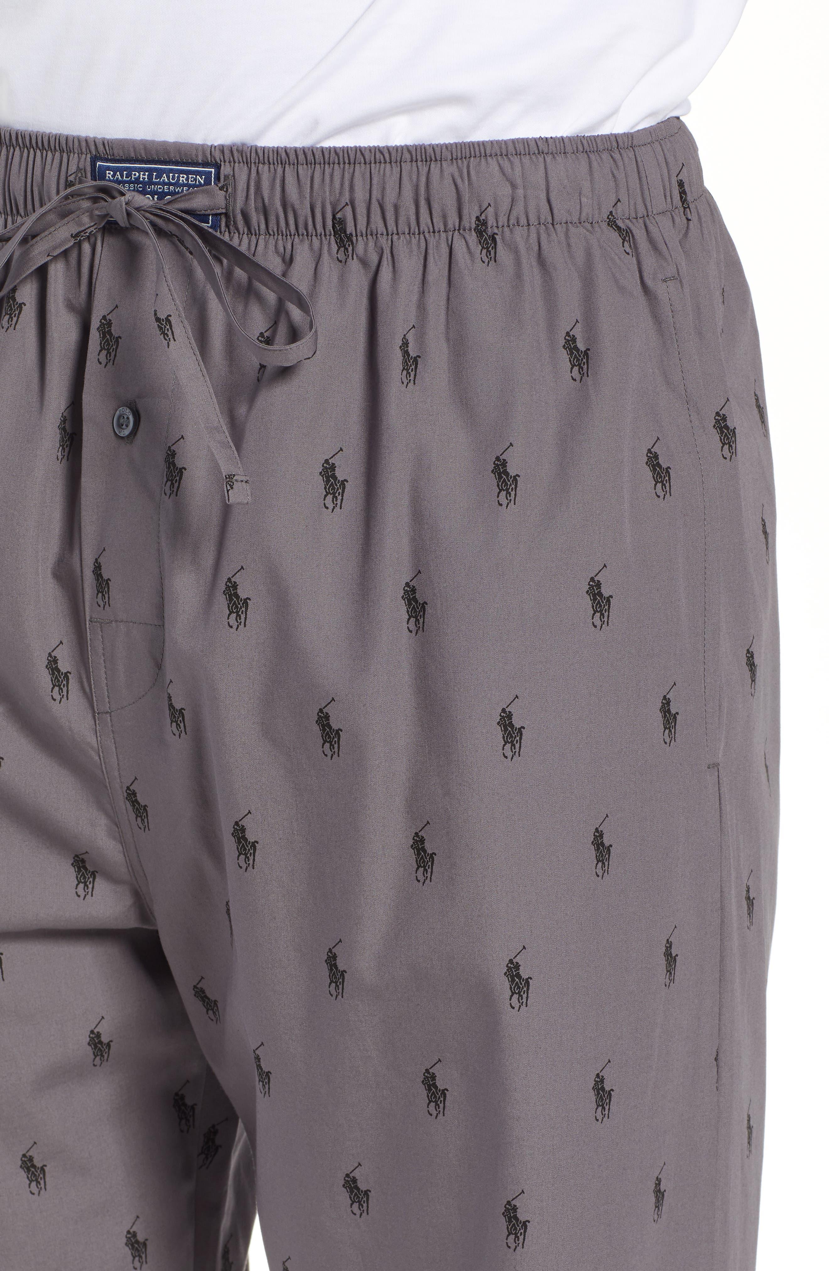 RALPH LAUREN,                             Polo Ralph Lauren Woven Pajama Pants,                             Alternate thumbnail 4, color,                             021