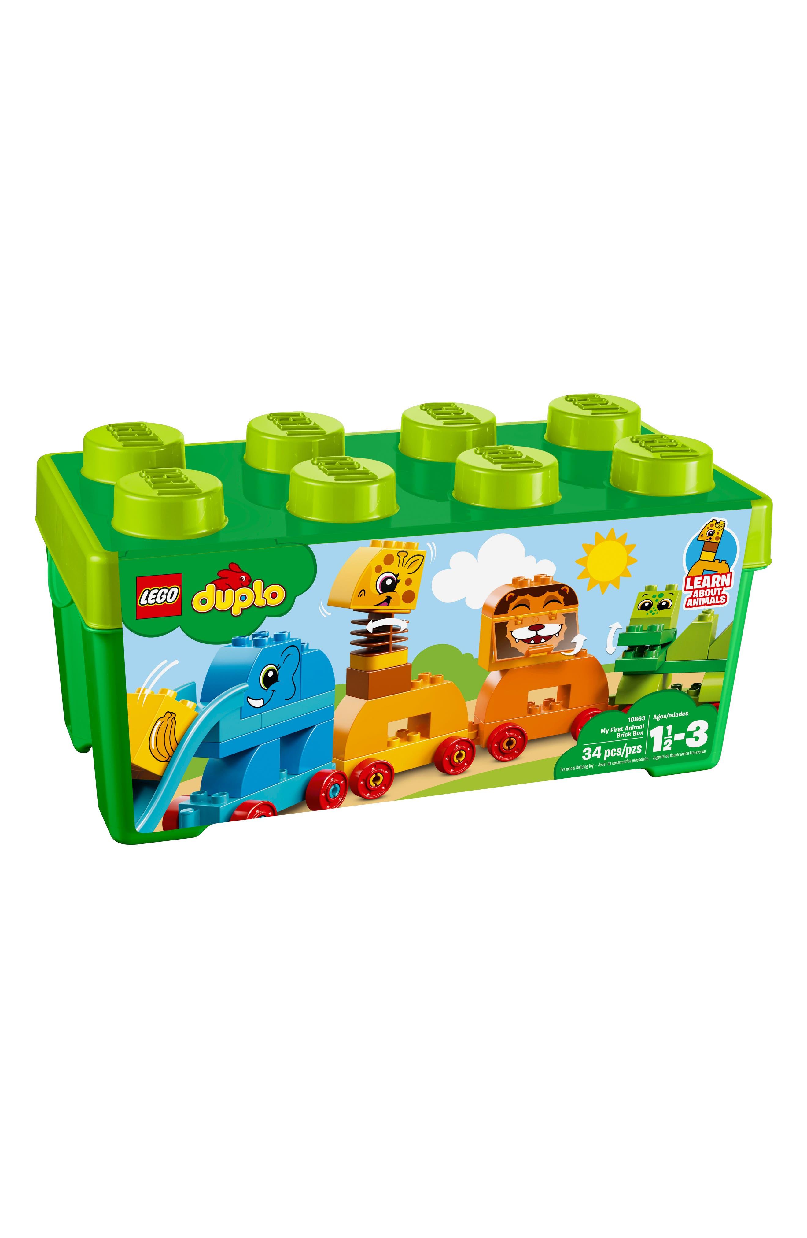 DUPLO<sup>®</sup> My First Animal Brick Box - 10863,                             Main thumbnail 1, color,                             MULTI