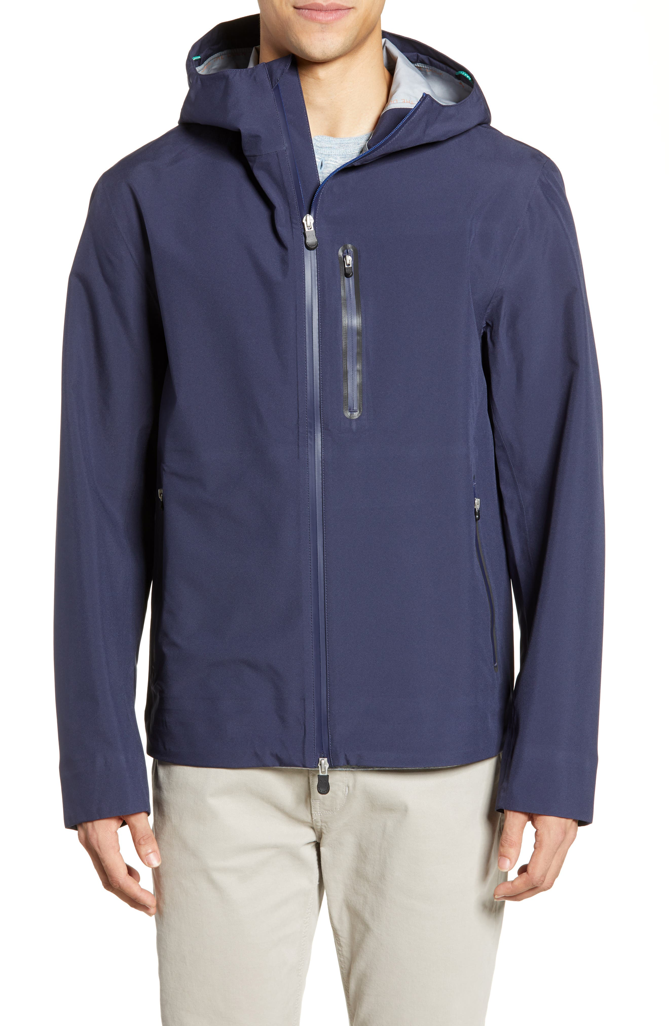 Save The Duck Waterproof Hooded Jacket, Blue