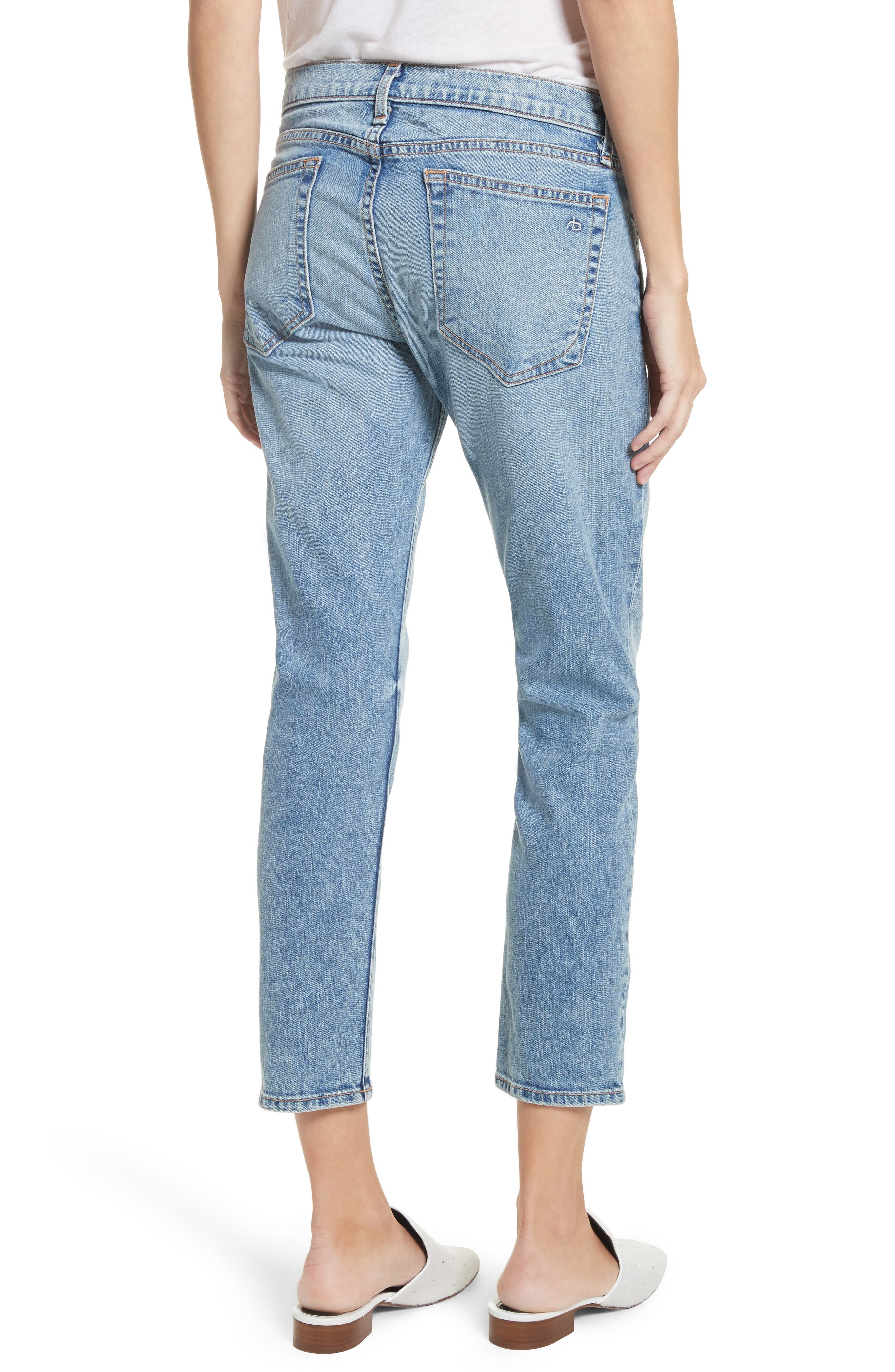 The Dre Ankle Slim Boyfriend Jeans,                             Alternate thumbnail 2, color,                             420