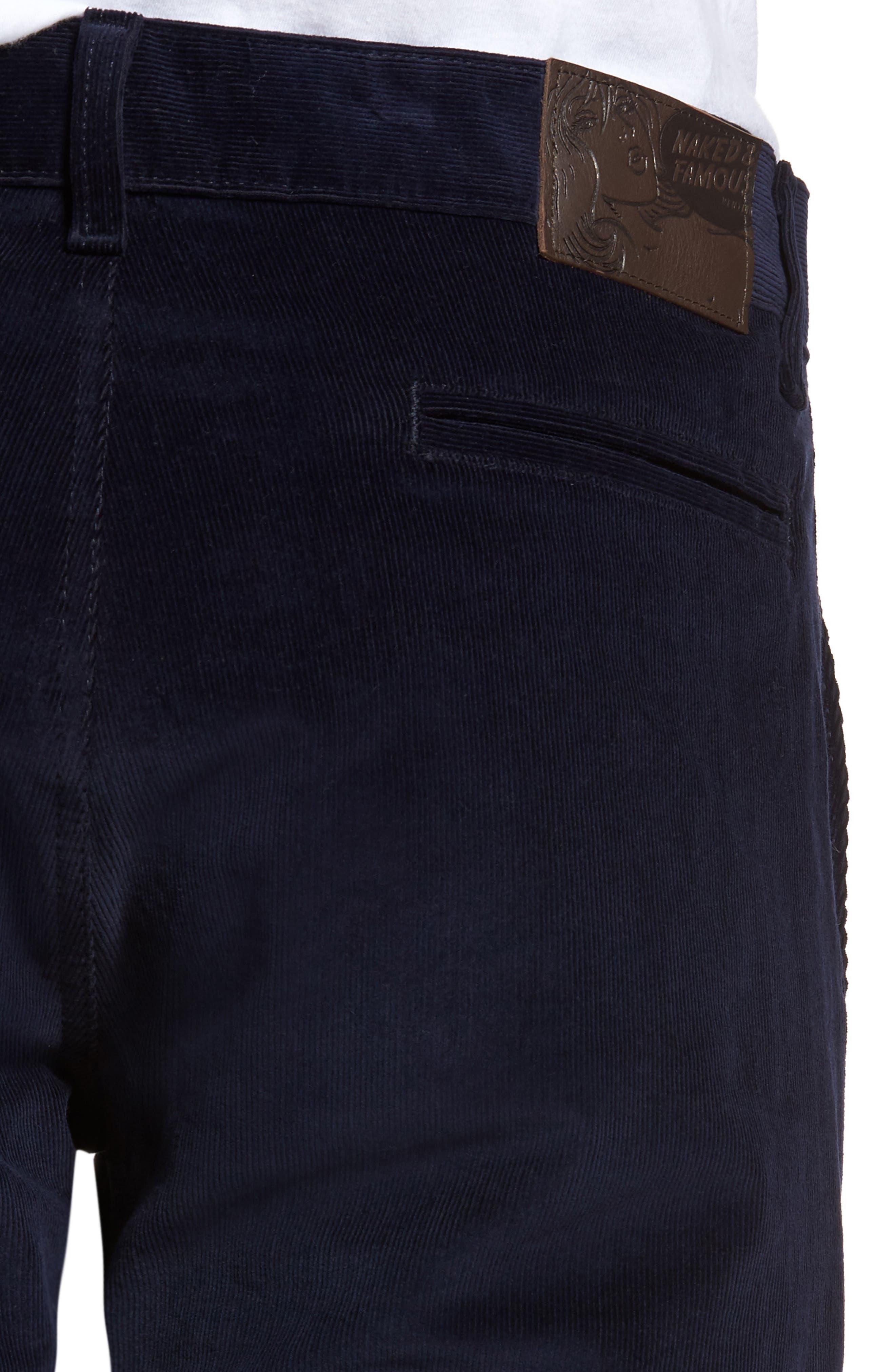 Slim Fit Corduroy Pants,                             Alternate thumbnail 4, color,