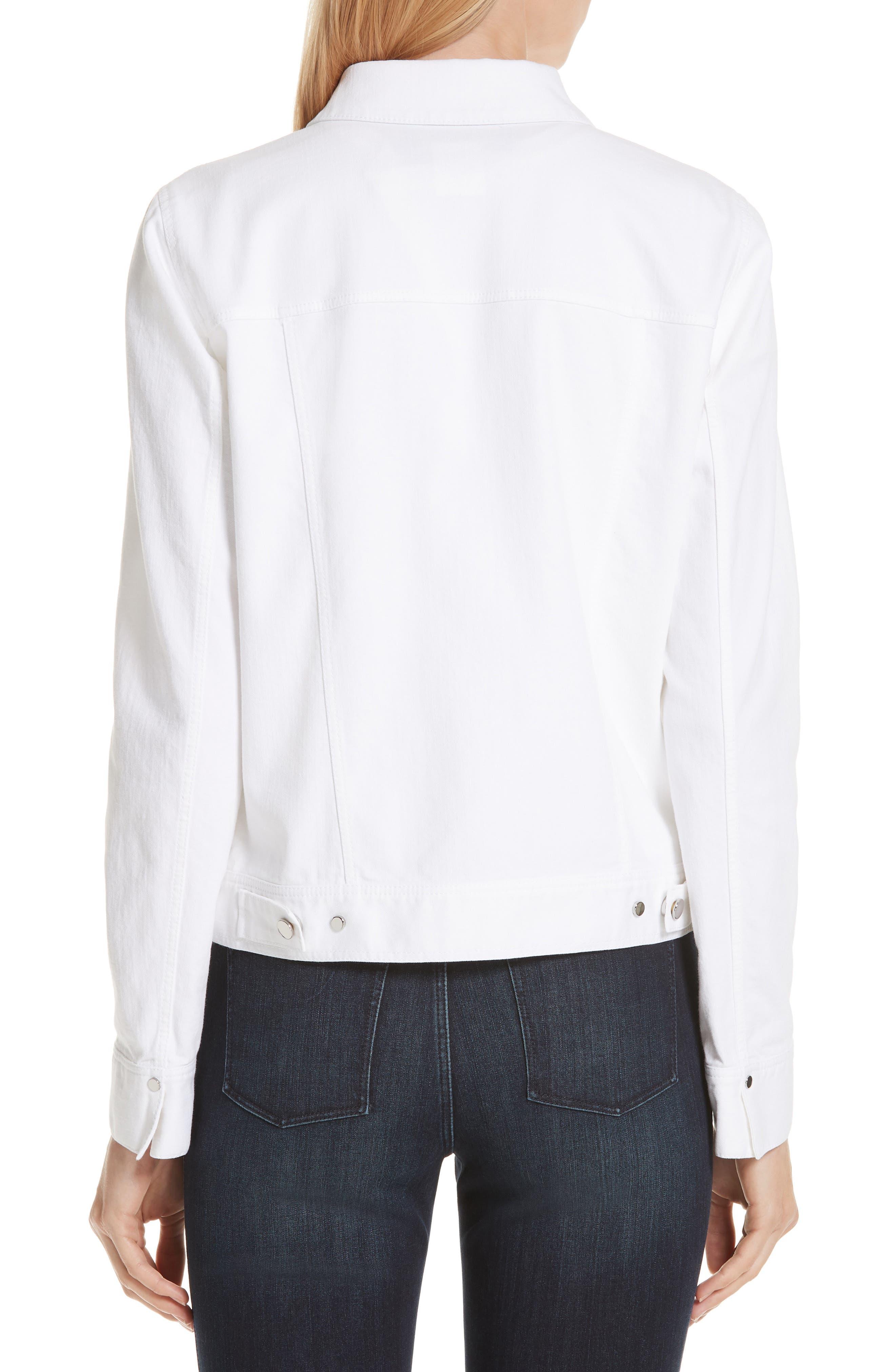 Kesha Denim Jacket,                             Alternate thumbnail 2, color,                             WHITE