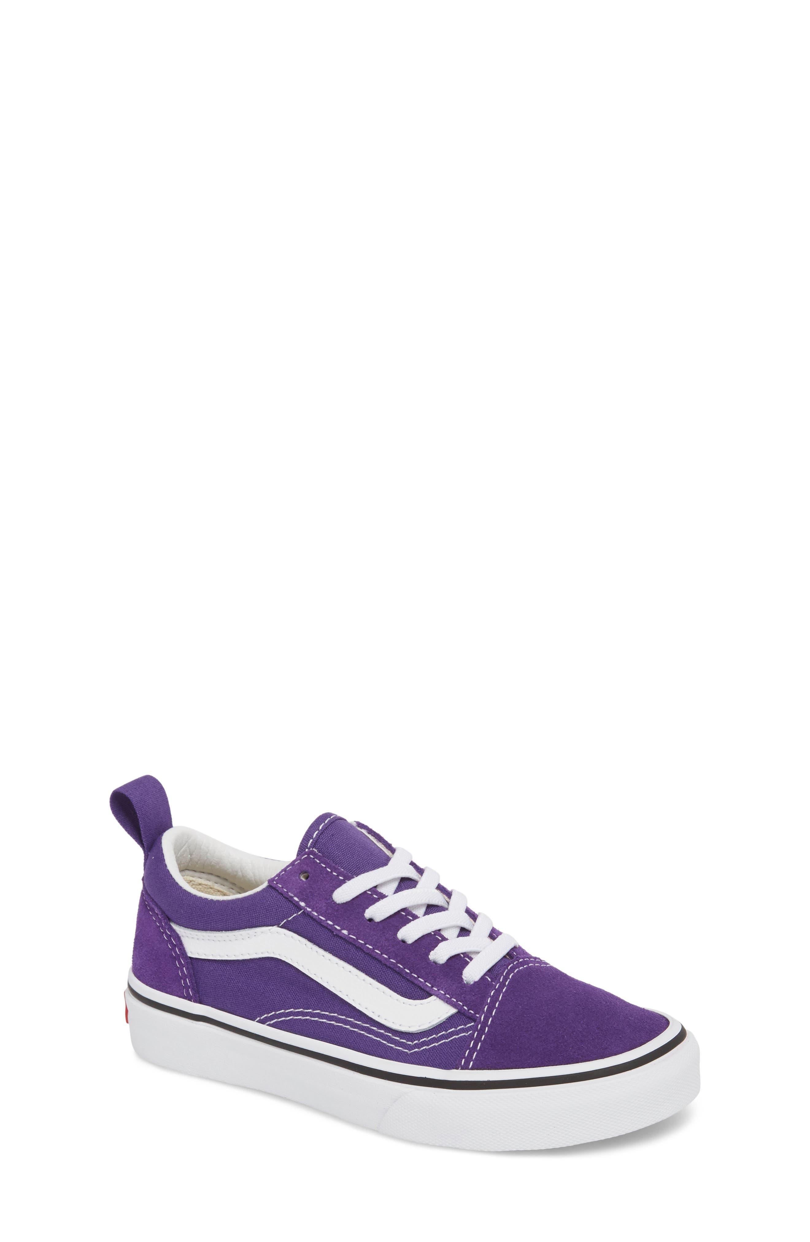 'Old Skool' Skate Sneaker,                             Main thumbnail 1, color,                             HELIOTROPE/ WHITE