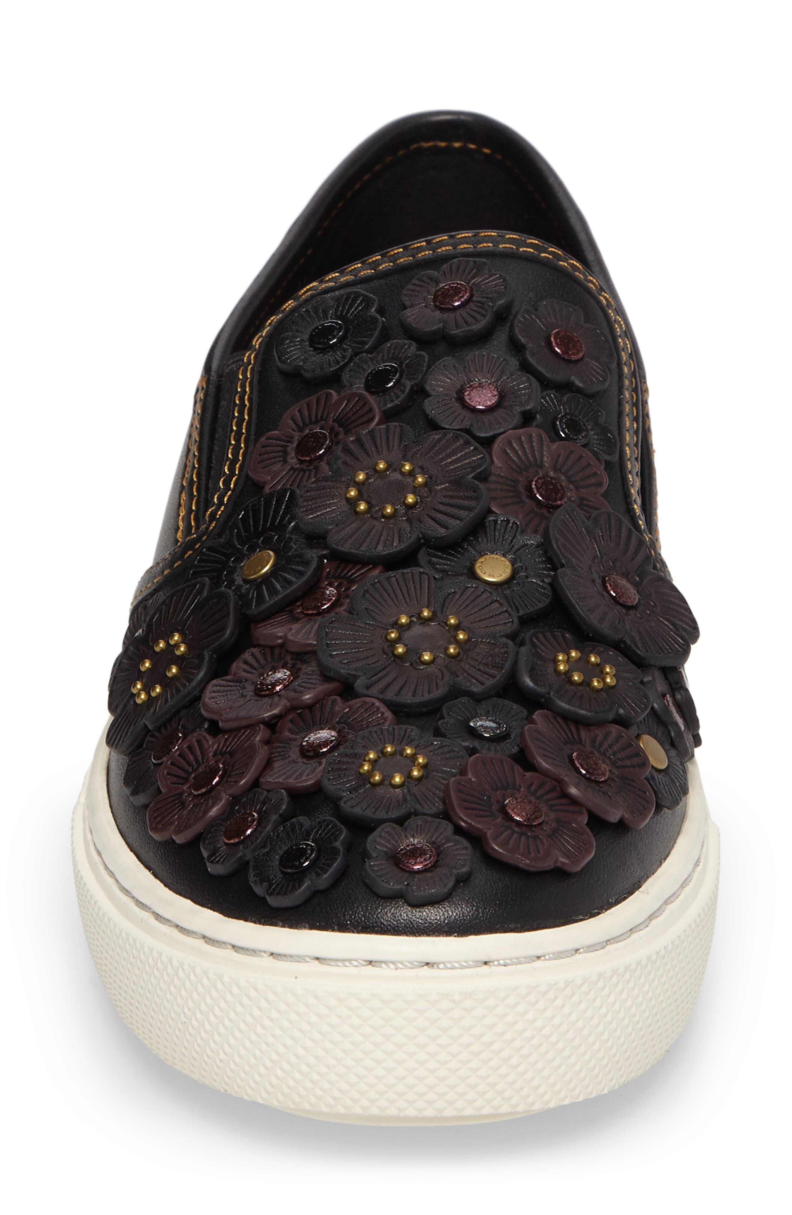 Tea Rose Slip-On Sneaker,                             Alternate thumbnail 4, color,                             001