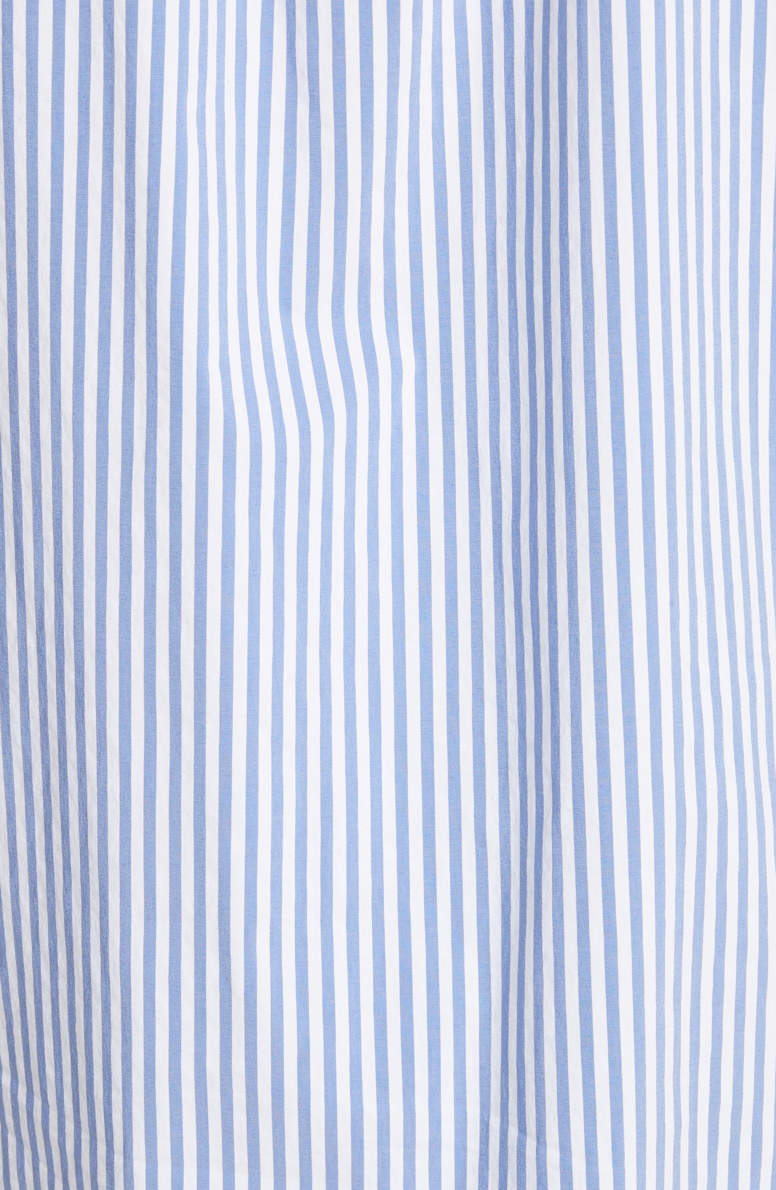 Striped Shirting Tunic,                             Alternate thumbnail 6, color,