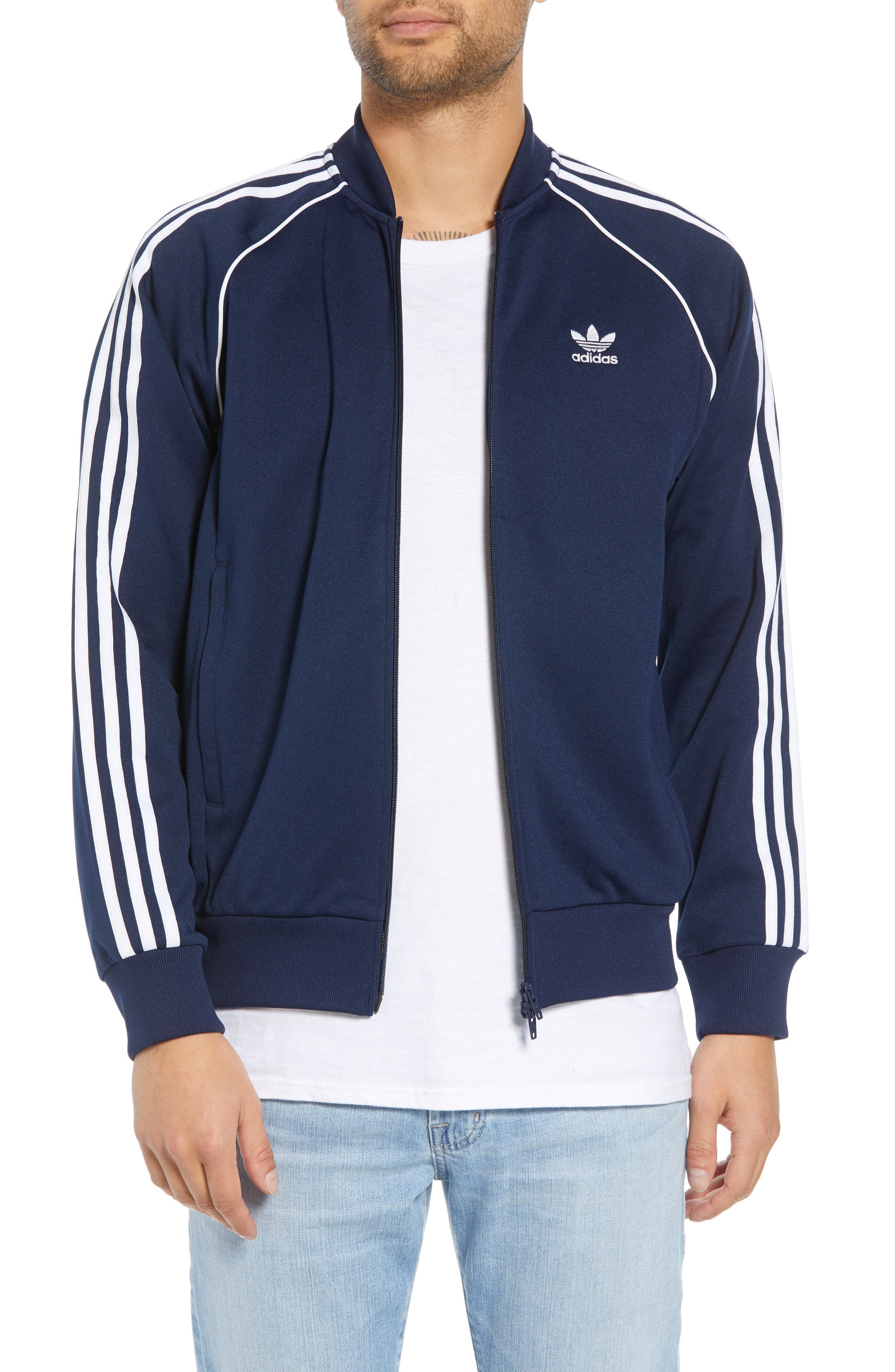 adidas SST Track Jacket,                             Main thumbnail 1, color,                             COLLEGIATE NAVY