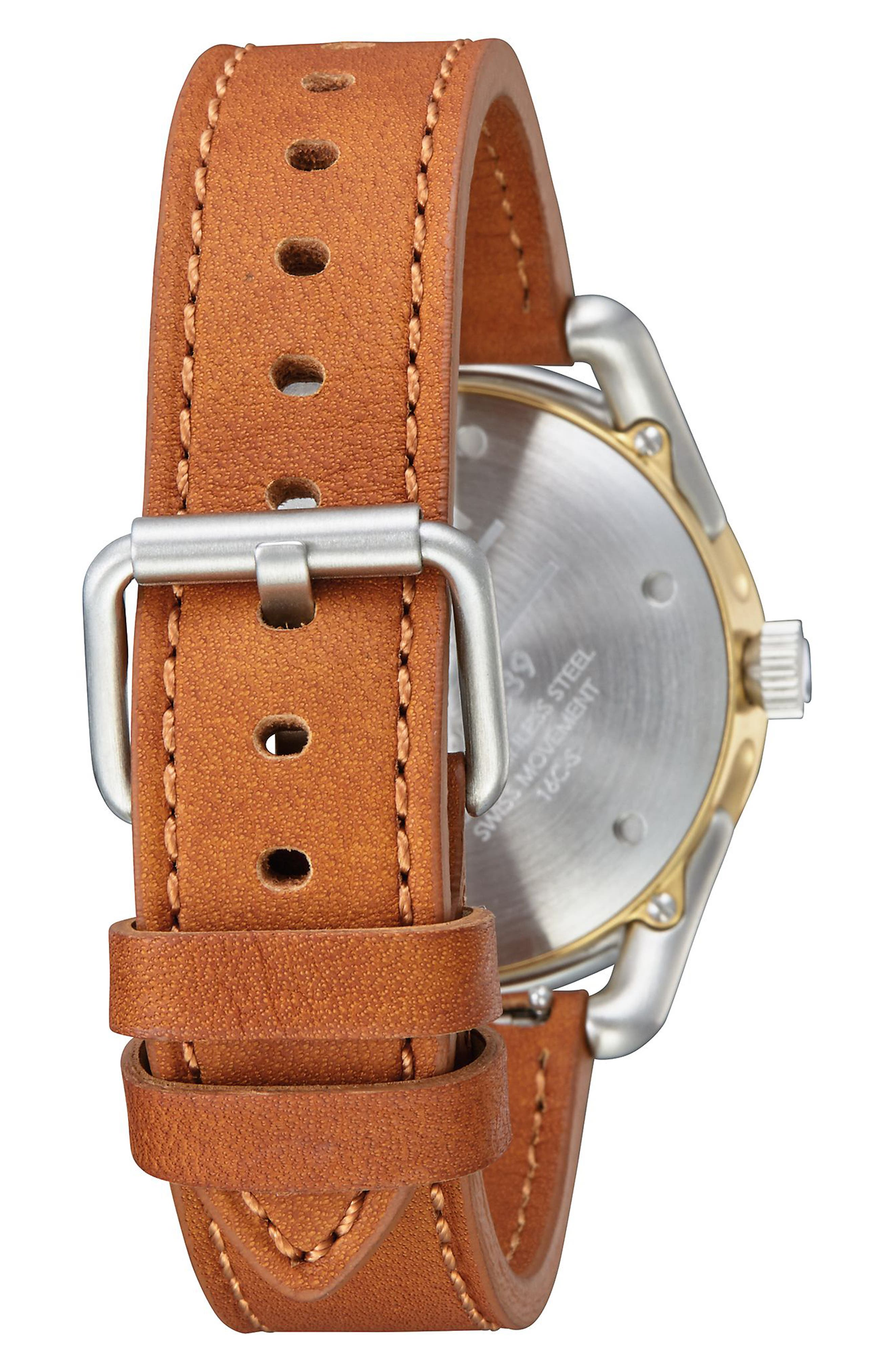 C39 Leather Strap Watch, 39mm,                             Alternate thumbnail 7, color,