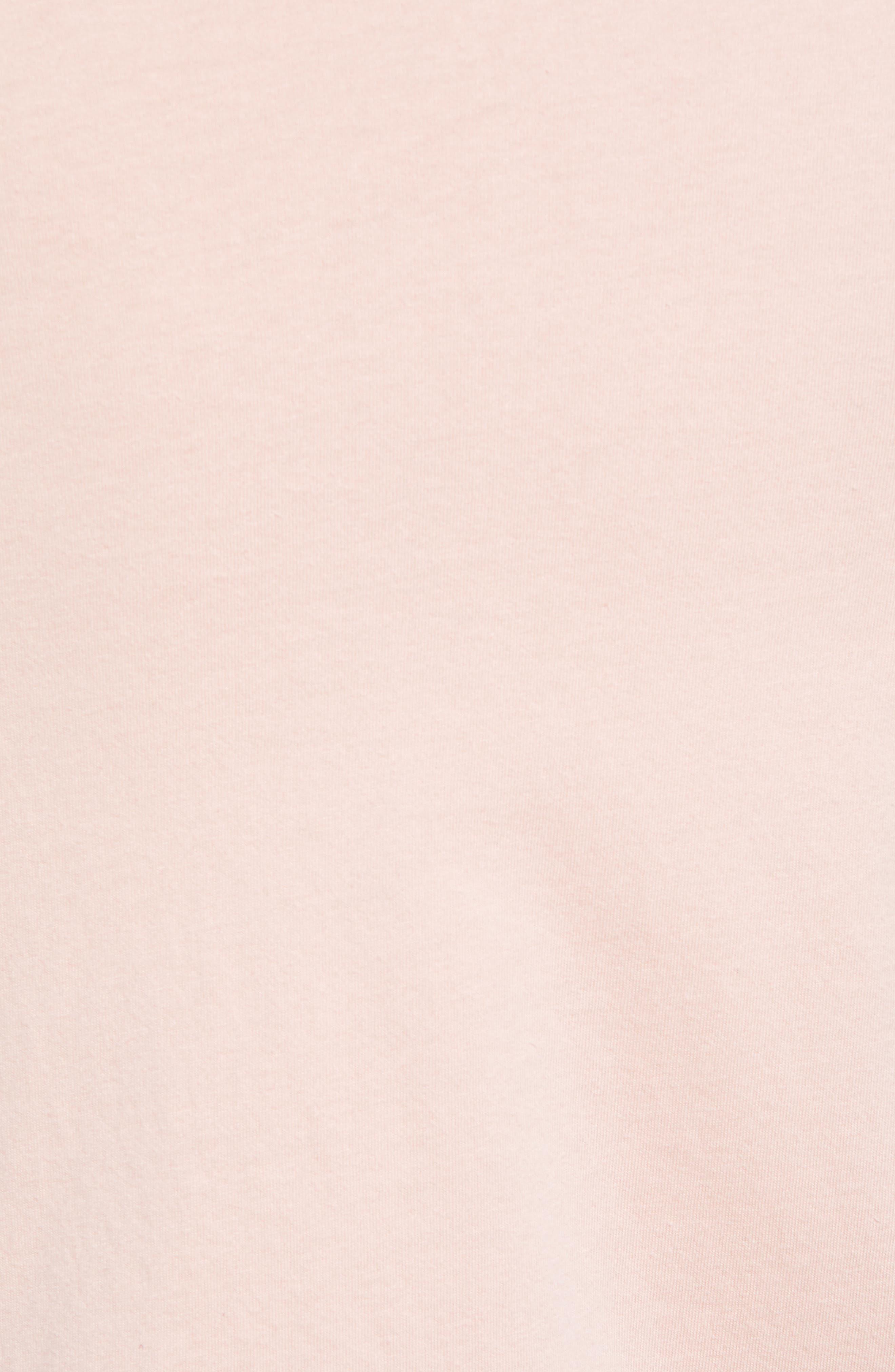 Crewneck Cotton T-Shirt,                             Alternate thumbnail 5, color,                             BLUSH