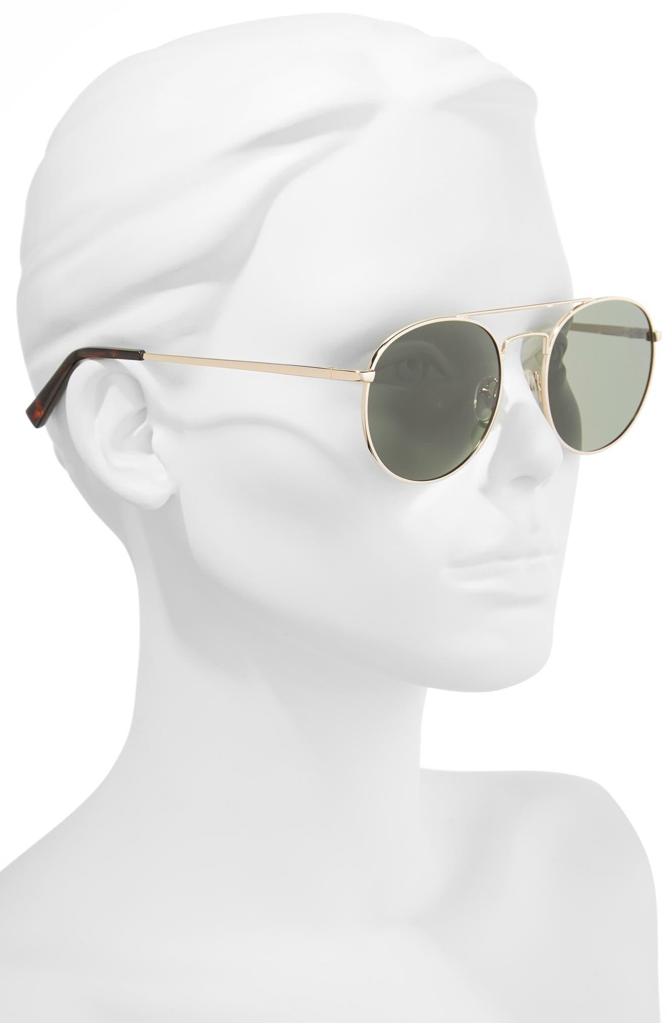 Revolution 53mm Aviator Sunglasses,                             Alternate thumbnail 2, color,                             GOLD