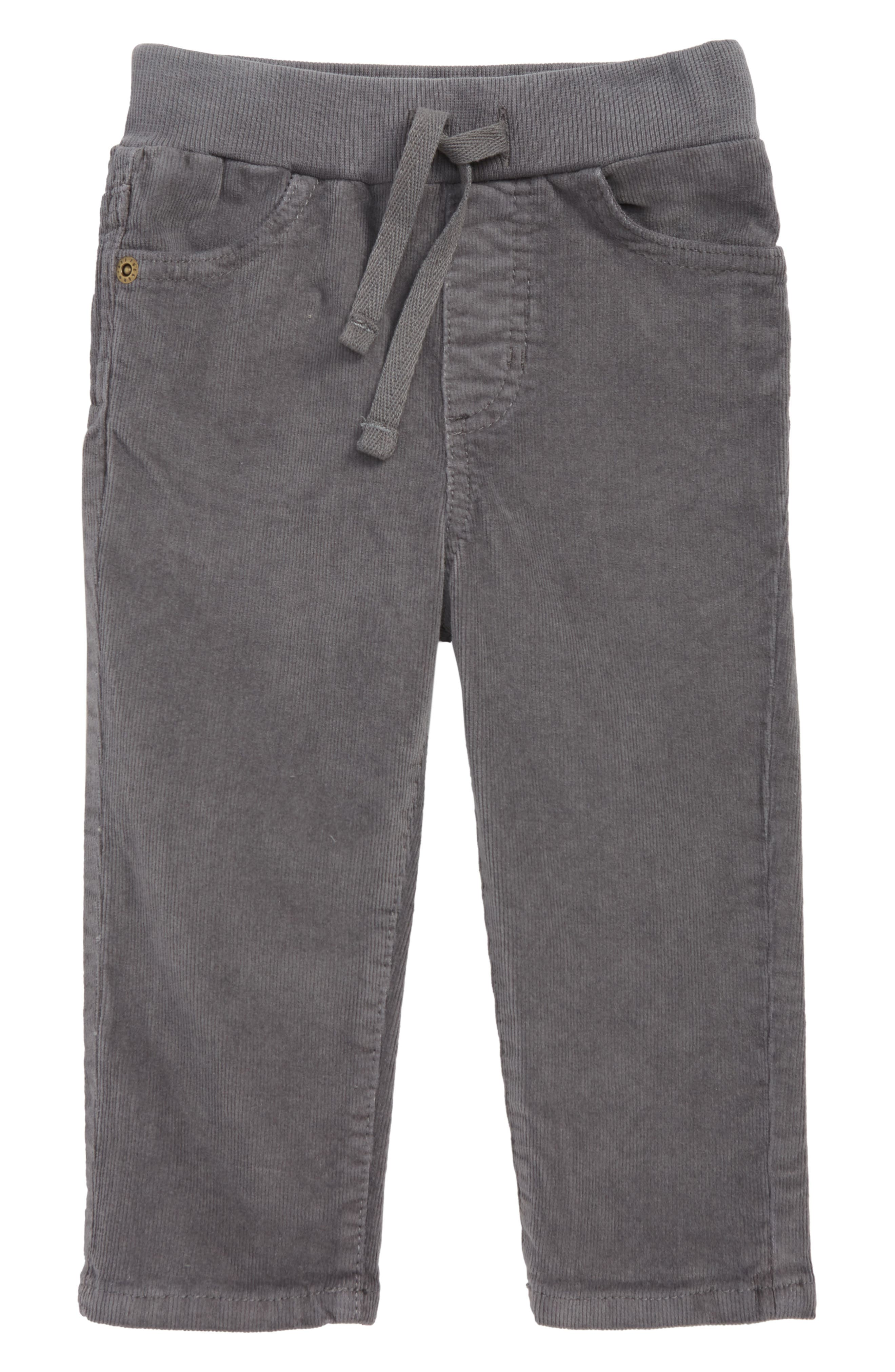 TUCKER + TATE Corduroy Pants, Main, color, GREY CASTLEROCK