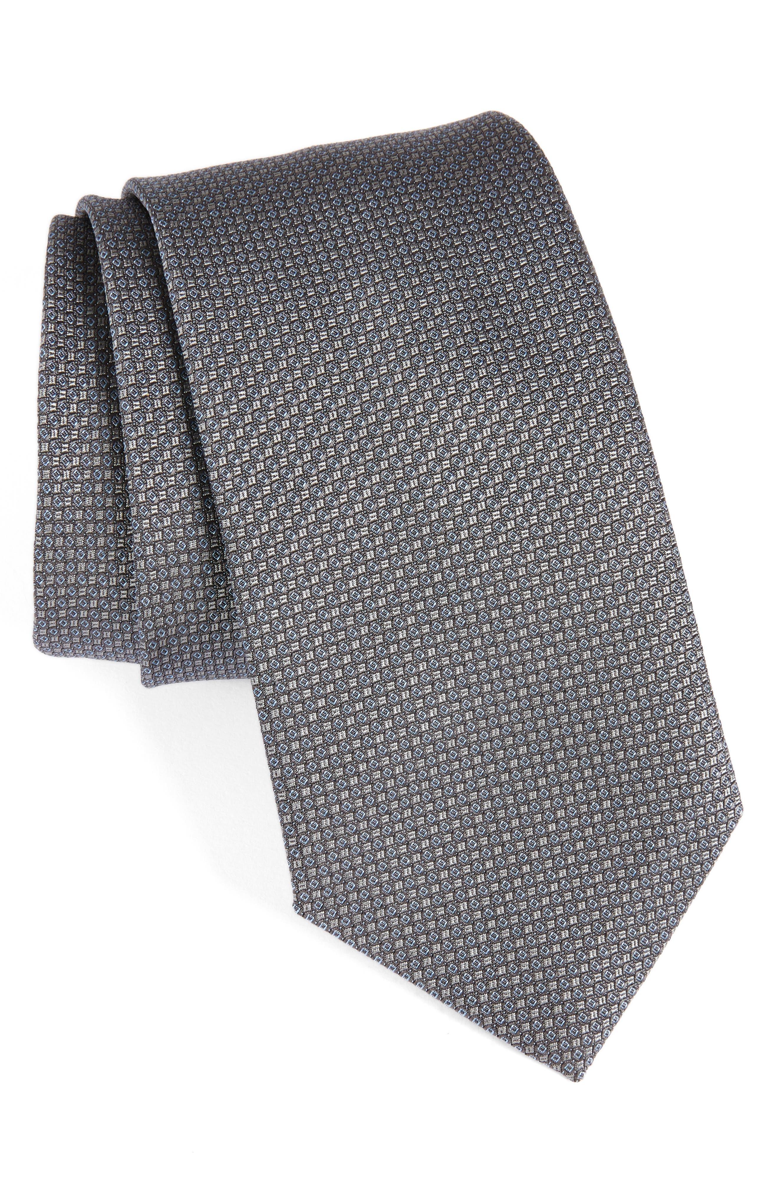 Solid Silk Tie,                         Main,                         color, 020