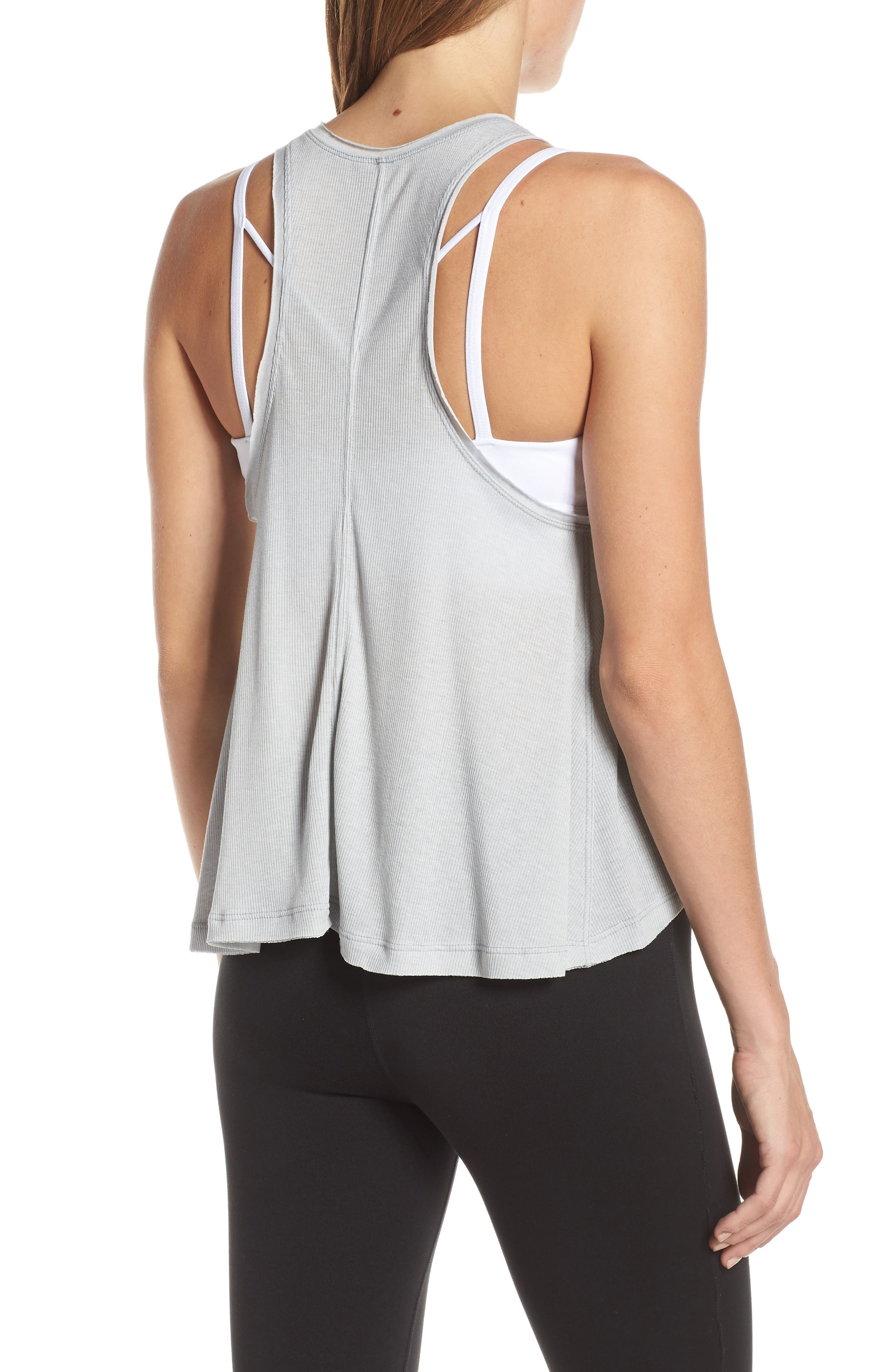 FREE PEOPLE MOVEMENT,                             Free People FP Movement The Rise & Fall Tank,                             Alternate thumbnail 2, color,                             GREY