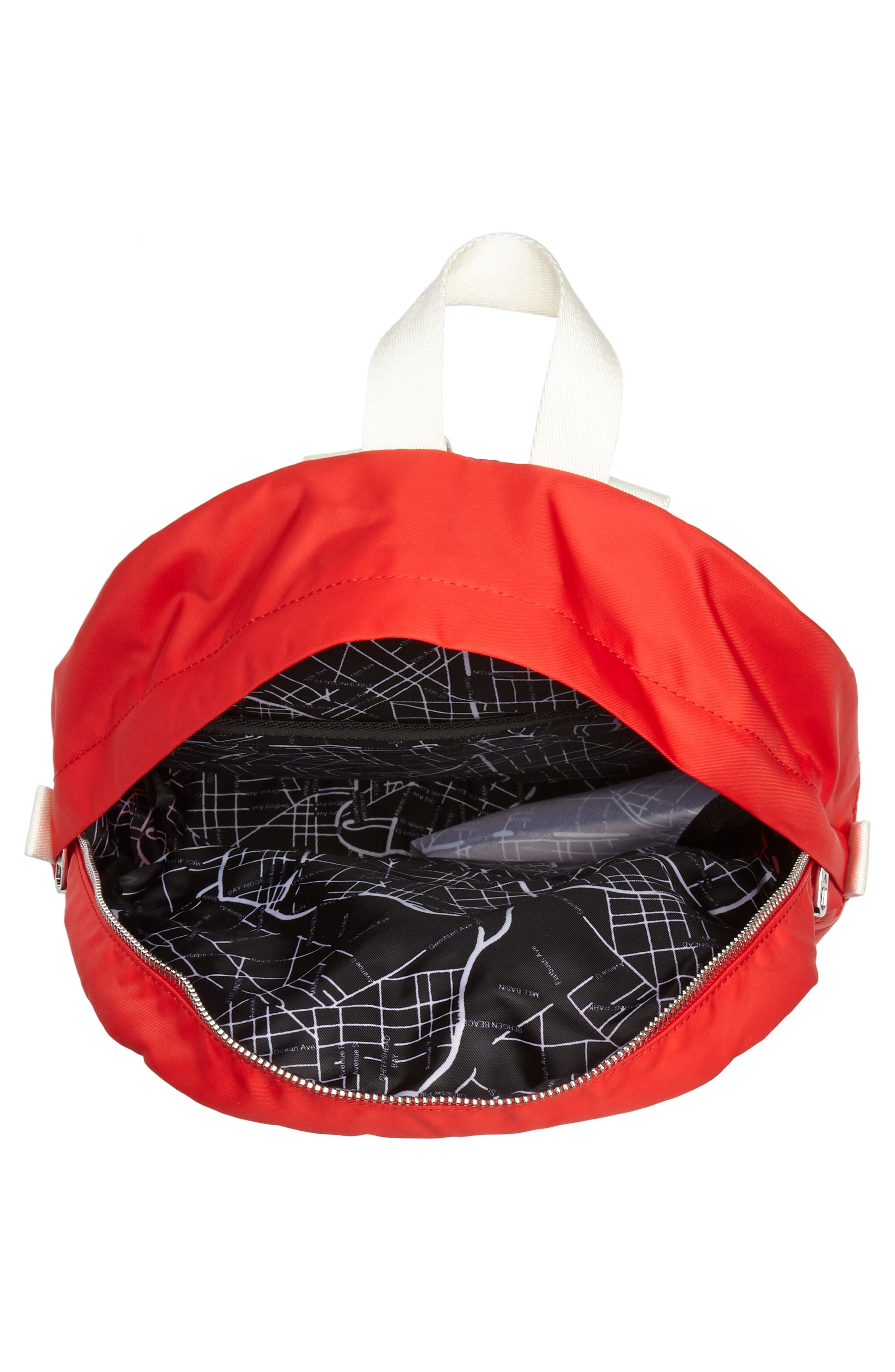 The Heights Mini Lorimer Nylon Backpack,                             Alternate thumbnail 4, color,                             RED