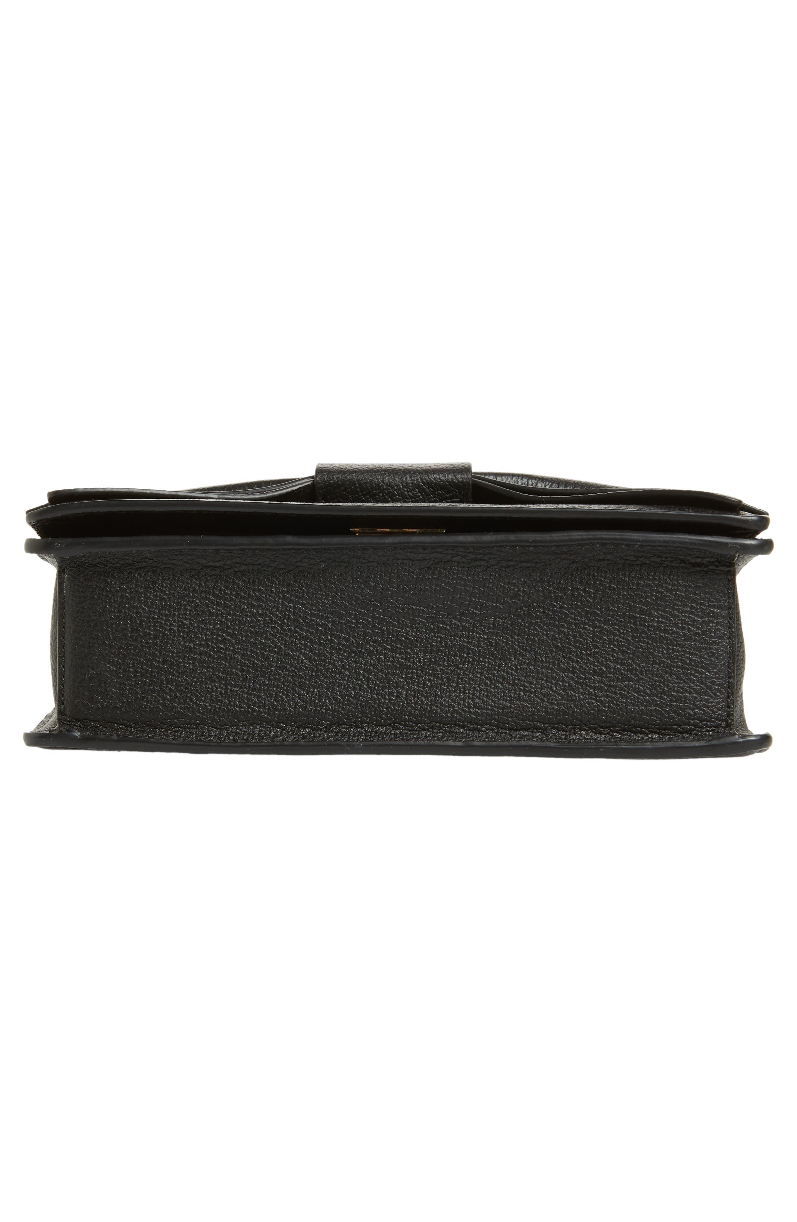 olive drive - marci leather shoulder bag,                             Alternate thumbnail 6, color,                             001