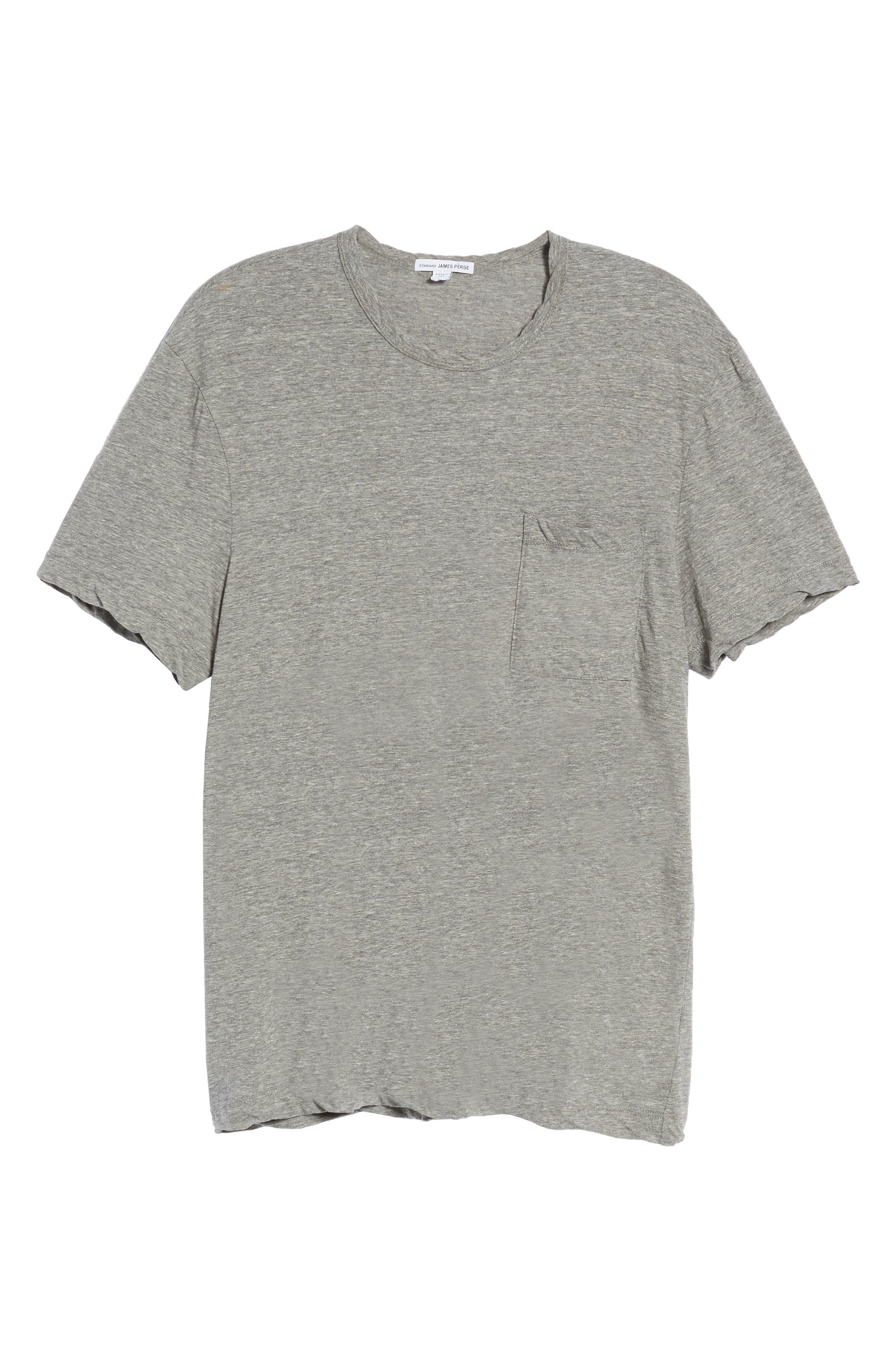 High Twist Regular Fit T-Shirt,                             Alternate thumbnail 6, color,                             HEATHER GREY