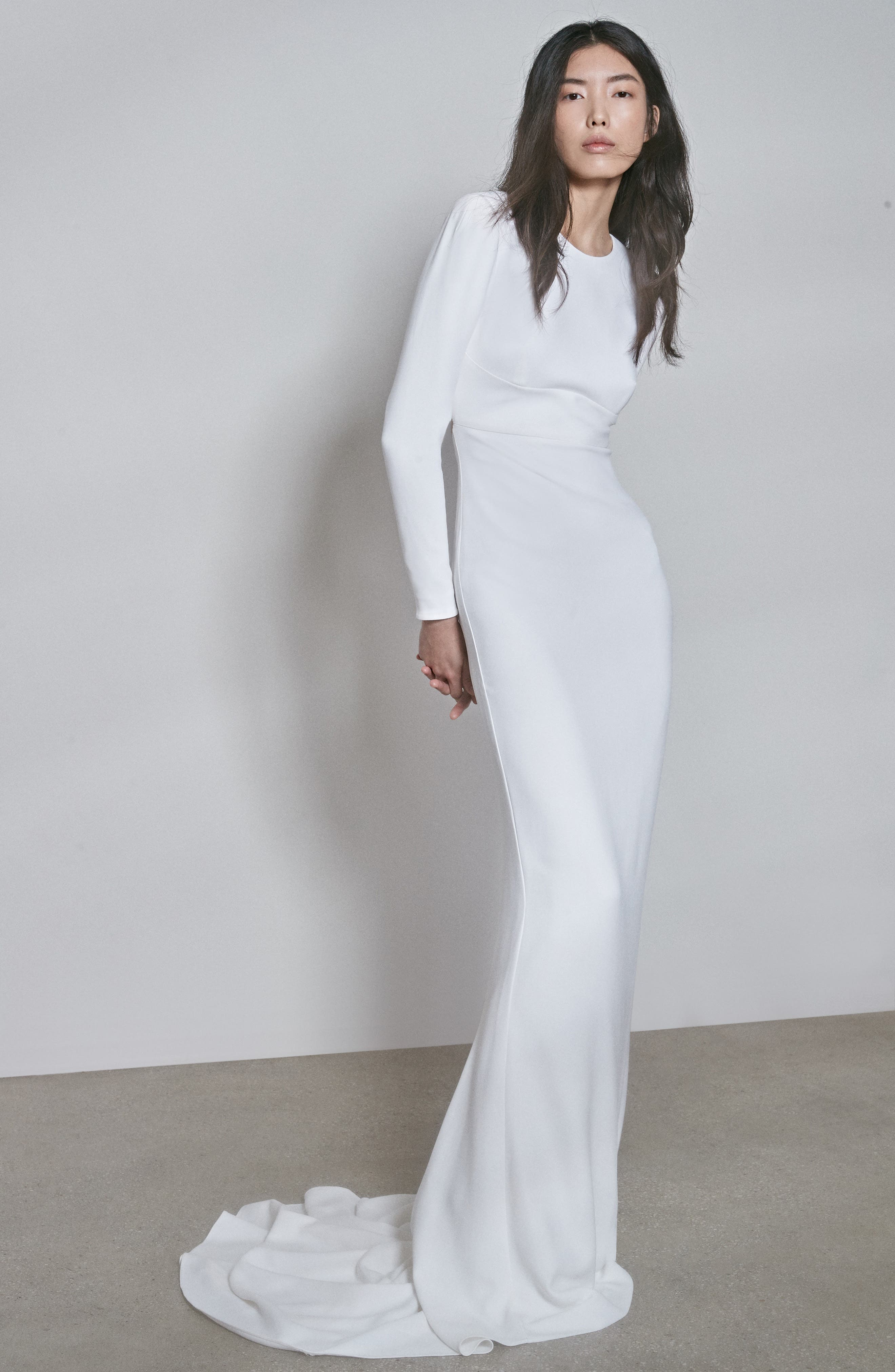 Stella Mccartney F18 Ruby Long Sleeve Cutout Wedding Dress, US / 50 IT - White