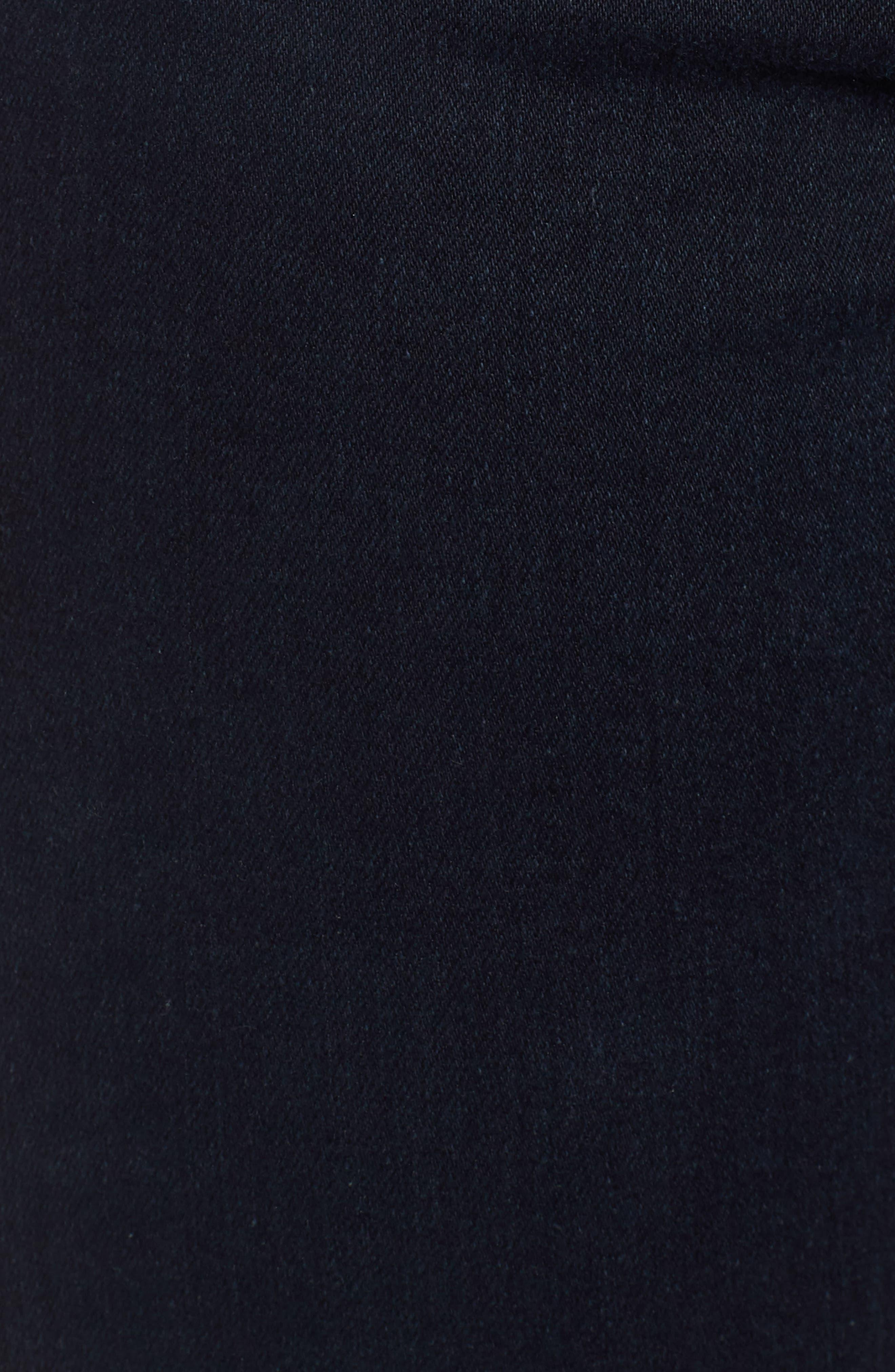 Farrah High Waist Split Hem Skinny Jeans,                             Alternate thumbnail 6, color,                             YARD BIRD