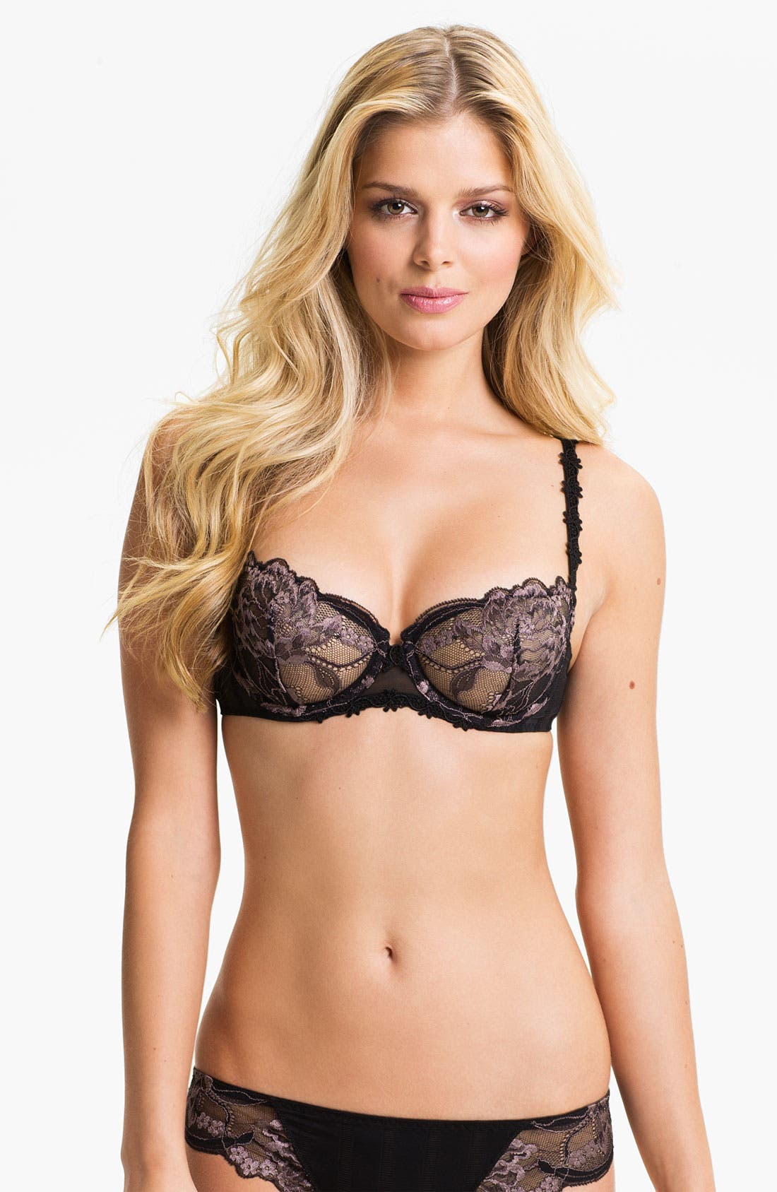 'Amour' Underwire Demi Bra,                             Main thumbnail 3, color,