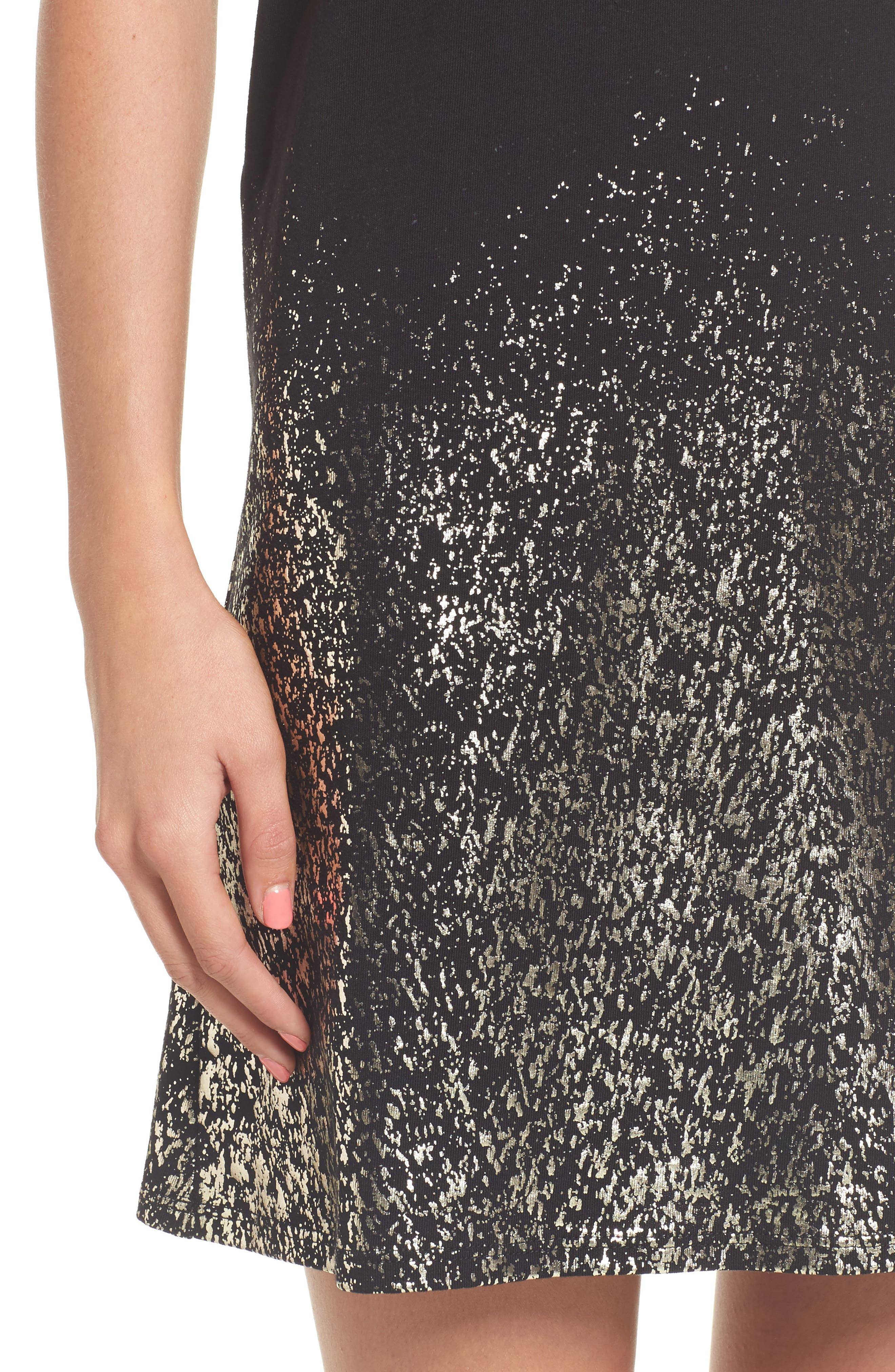 Foil Detail T-Shirt Dress,                             Alternate thumbnail 10, color,